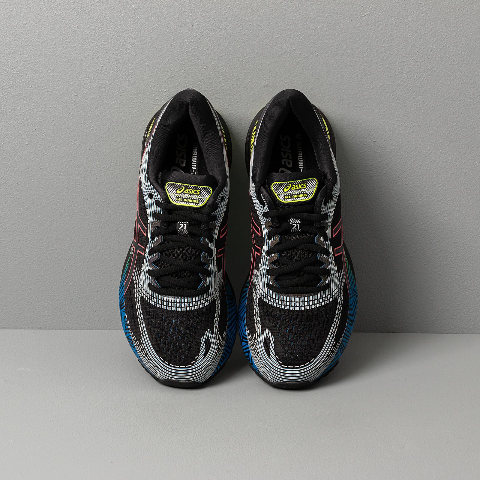 Jane Austen Ciudadanía tocino  Men's shoes Asics Gel-Nimbus 21 LS Black/ Electric Blue   Footshop