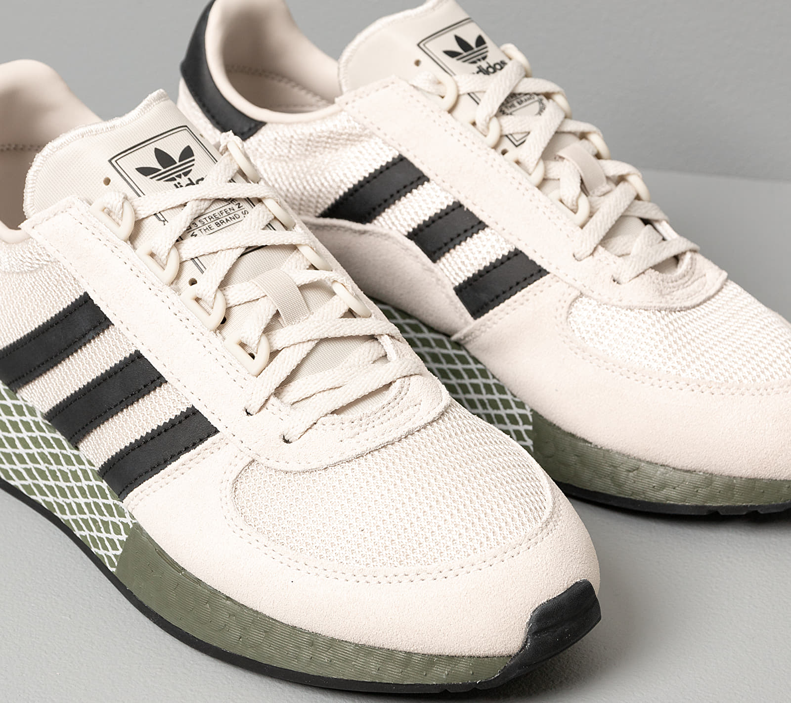 adidas Marathon Tech Raw White/ Core Black/ Raw Khaki