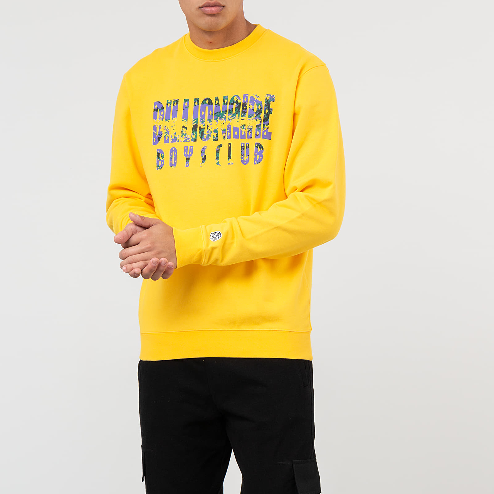 Hanorace și bluze Billionaire Boys Club Straight Logo Crewneck Yellow