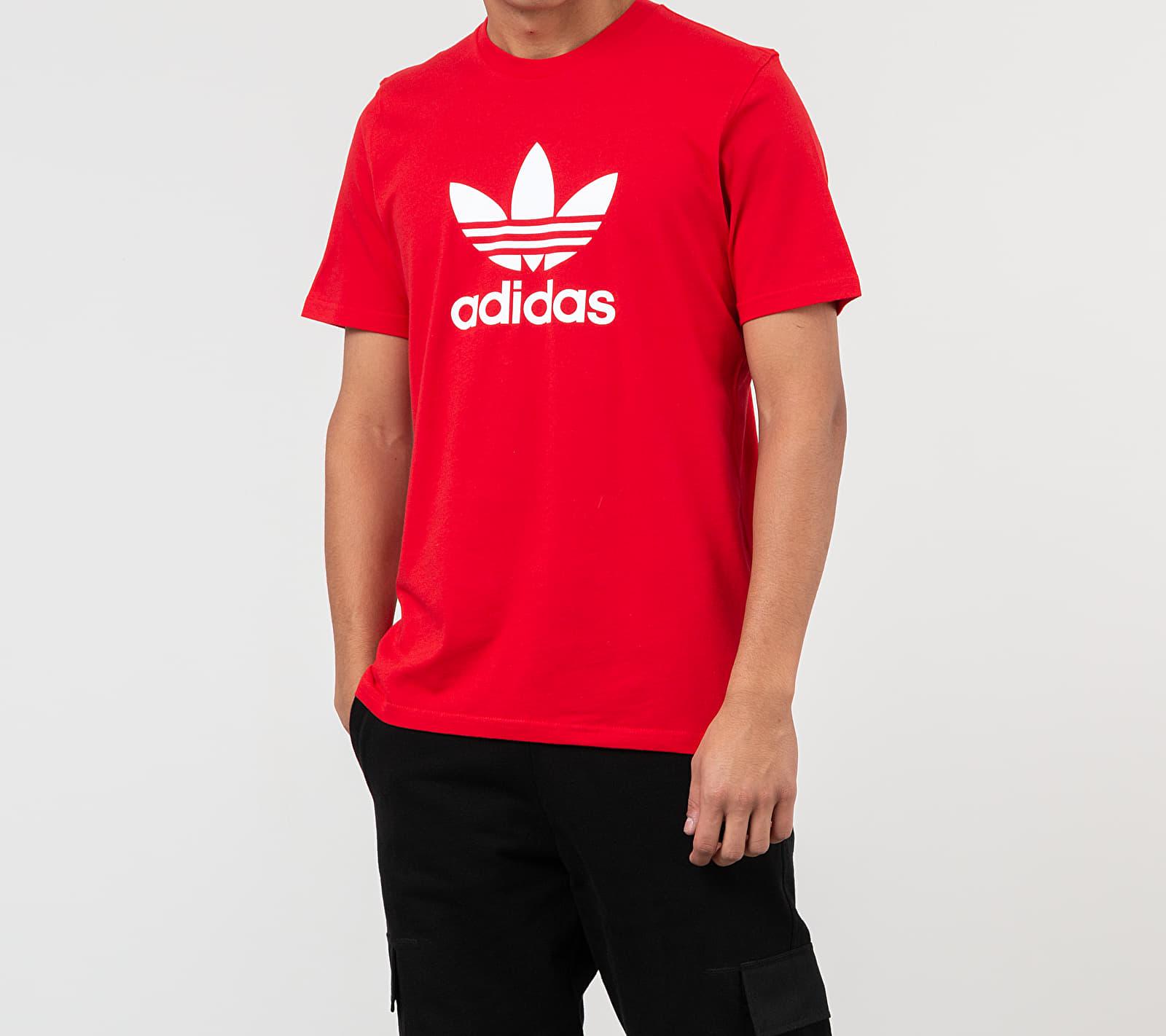 adidas Trefoil Tee Red/ White S