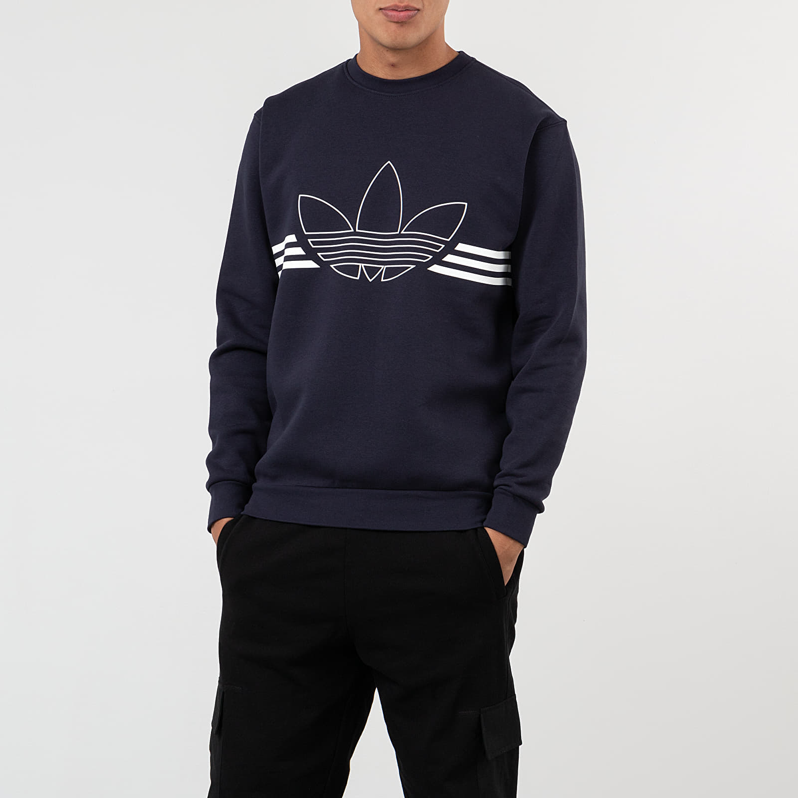 adidas Outline Fleece Crewneck
