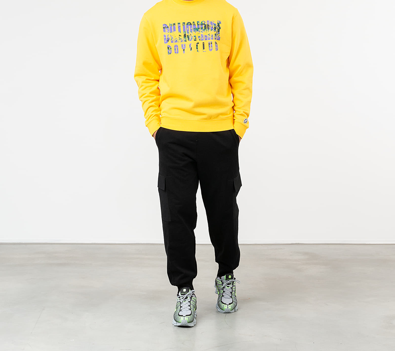 Billionaire Boys Club Straight Logo Crewneck Yellow