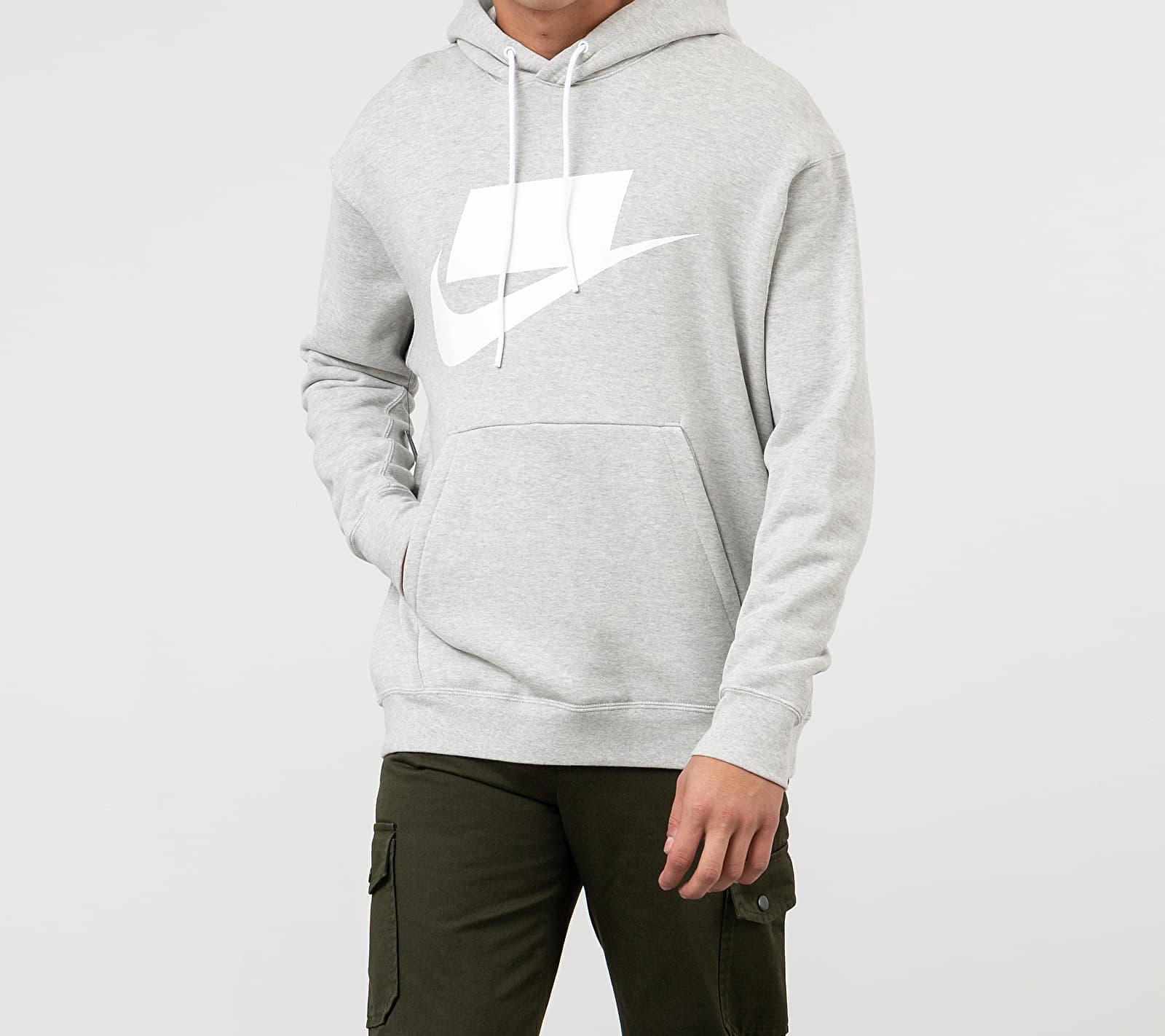 Nike Sportswear NSP Hoodie Grey Heather/ White, Gray