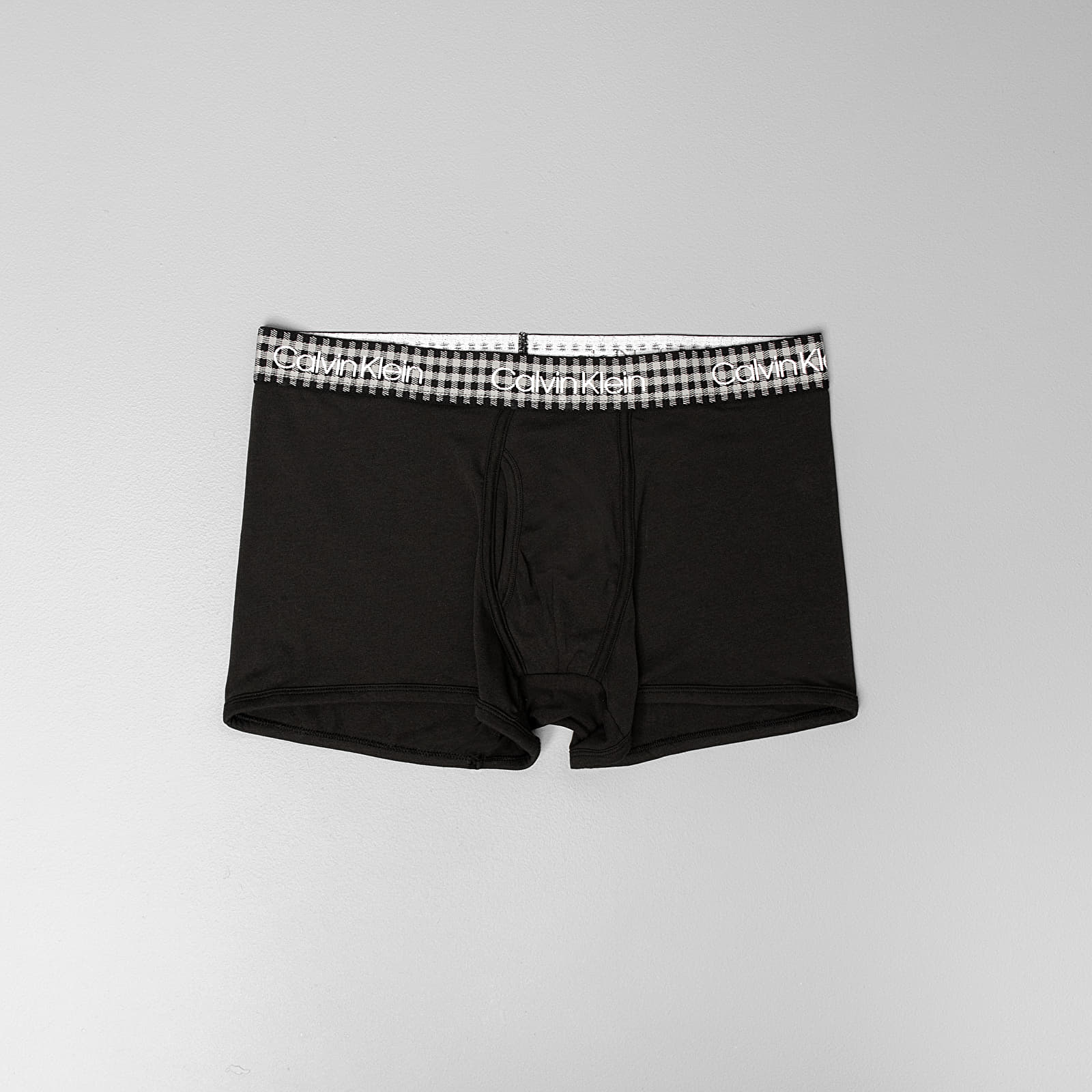Bokserki Calvin Klein Check Trunk Black