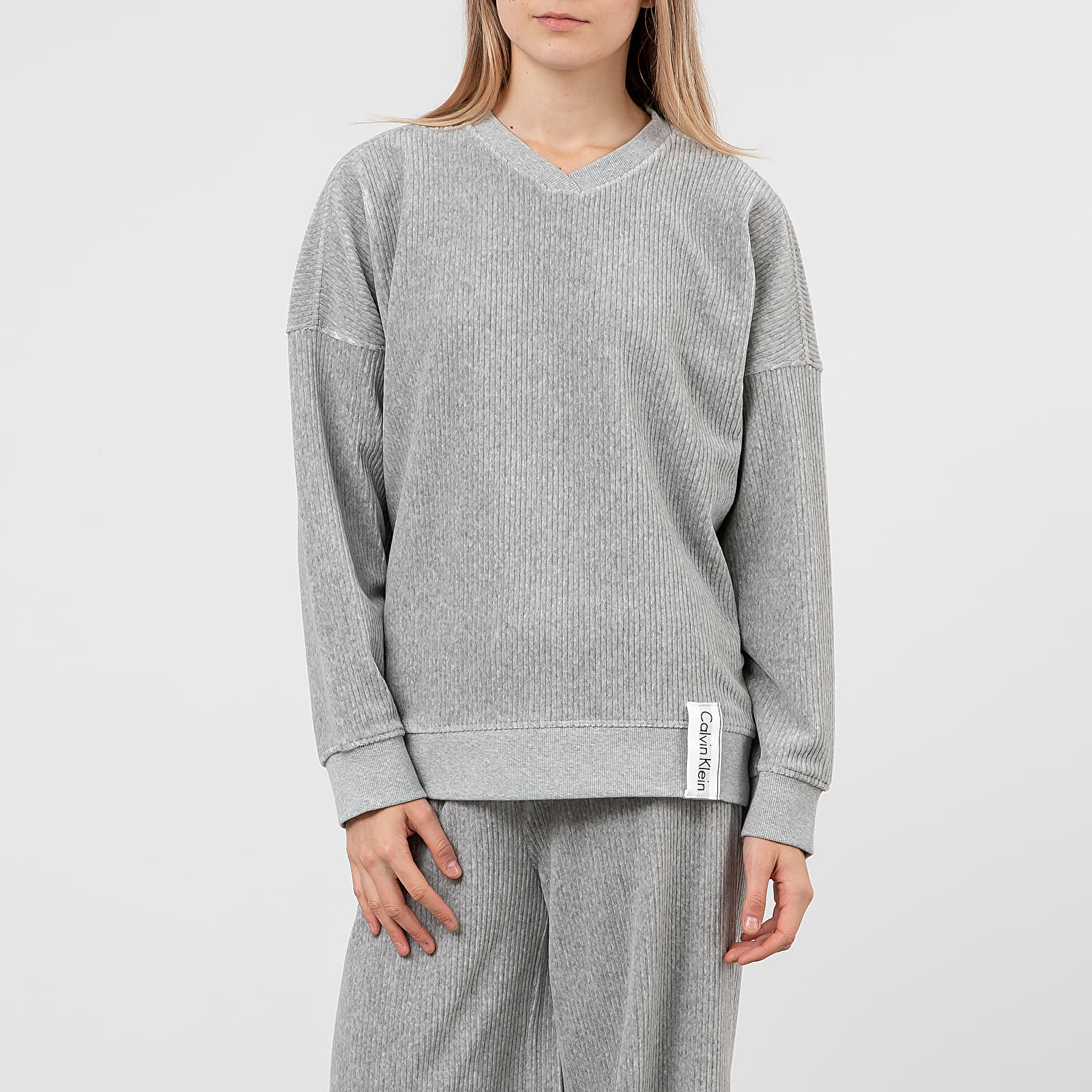 Sweatshirts Calvin Klein Long Sleeve Lounge Sweatshirt Grey Heather