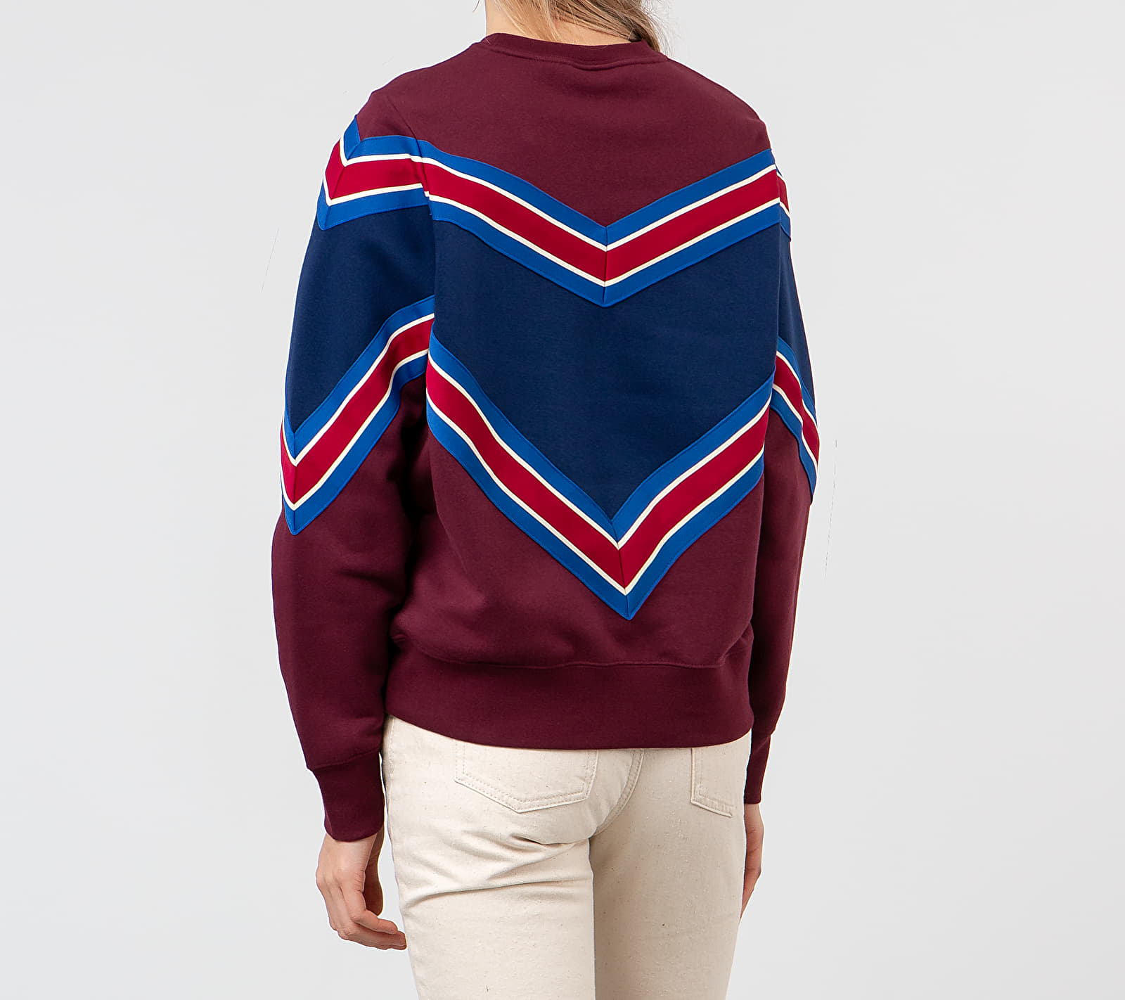 Nike Sportswear NSP Crewneck Night Maroon/ Blue Void/ White