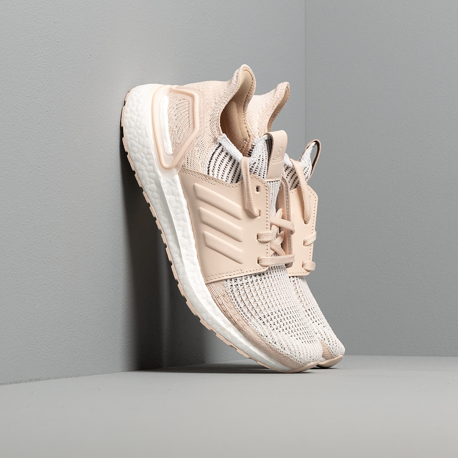 Women's shoes adidas UltraBOOST 19 W Crystal White/ Brown/ Linen