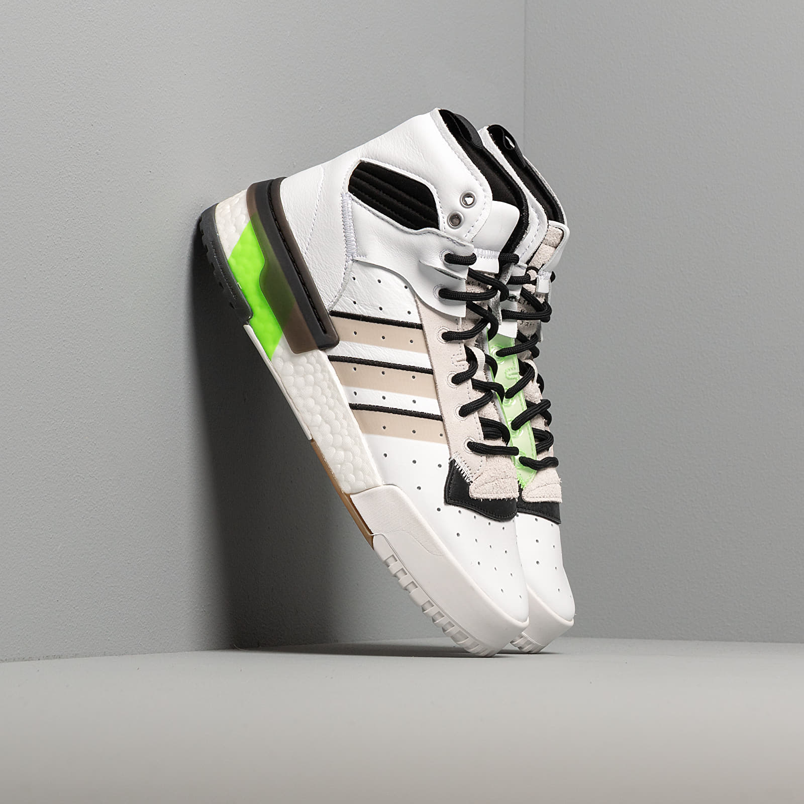 Men's shoes adidas Rivalry RM Ftw White/ Crystal White/ Semi Green
