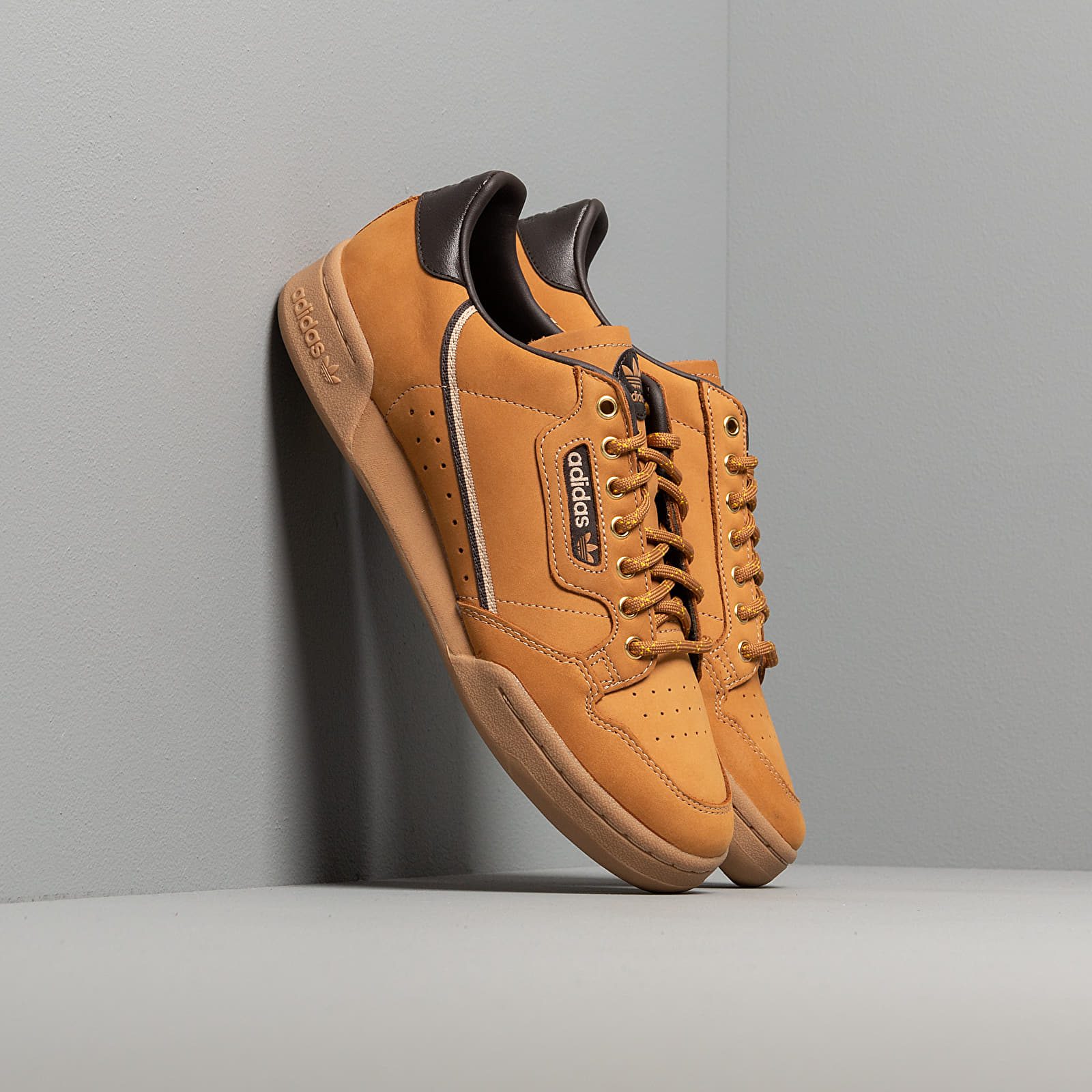 Men's shoes adidas Continental 80 Mesa/ Night Brown/ Eqt Yellow