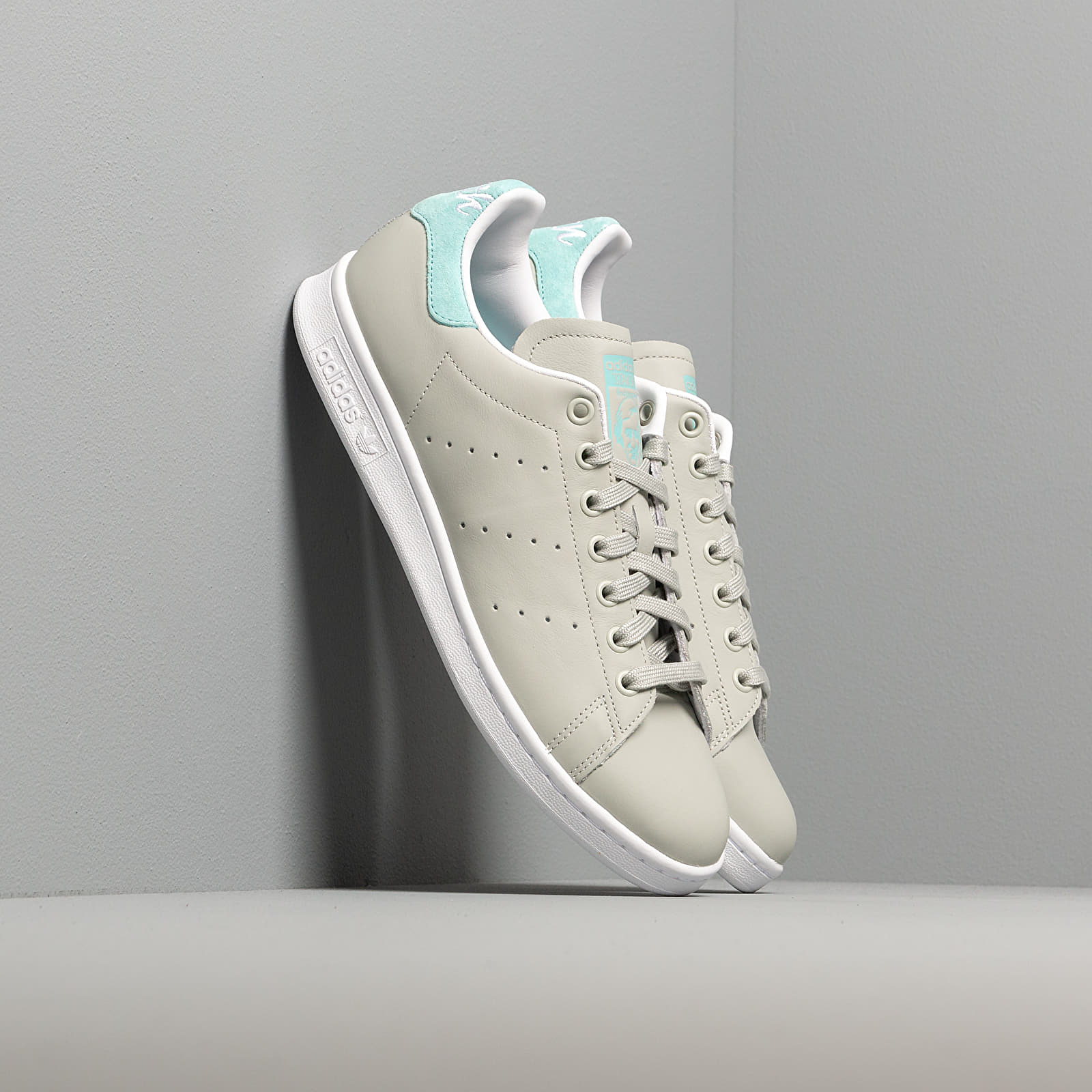Men's shoes adidas Stan Smith Ash Silver/ Easy Mint/ Ftw White