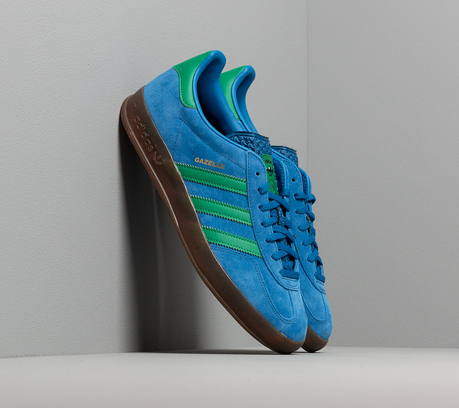 adidas Gazelle Indoor Lust Blue/ Bright Green/ Gum5 EUR 44 2/3