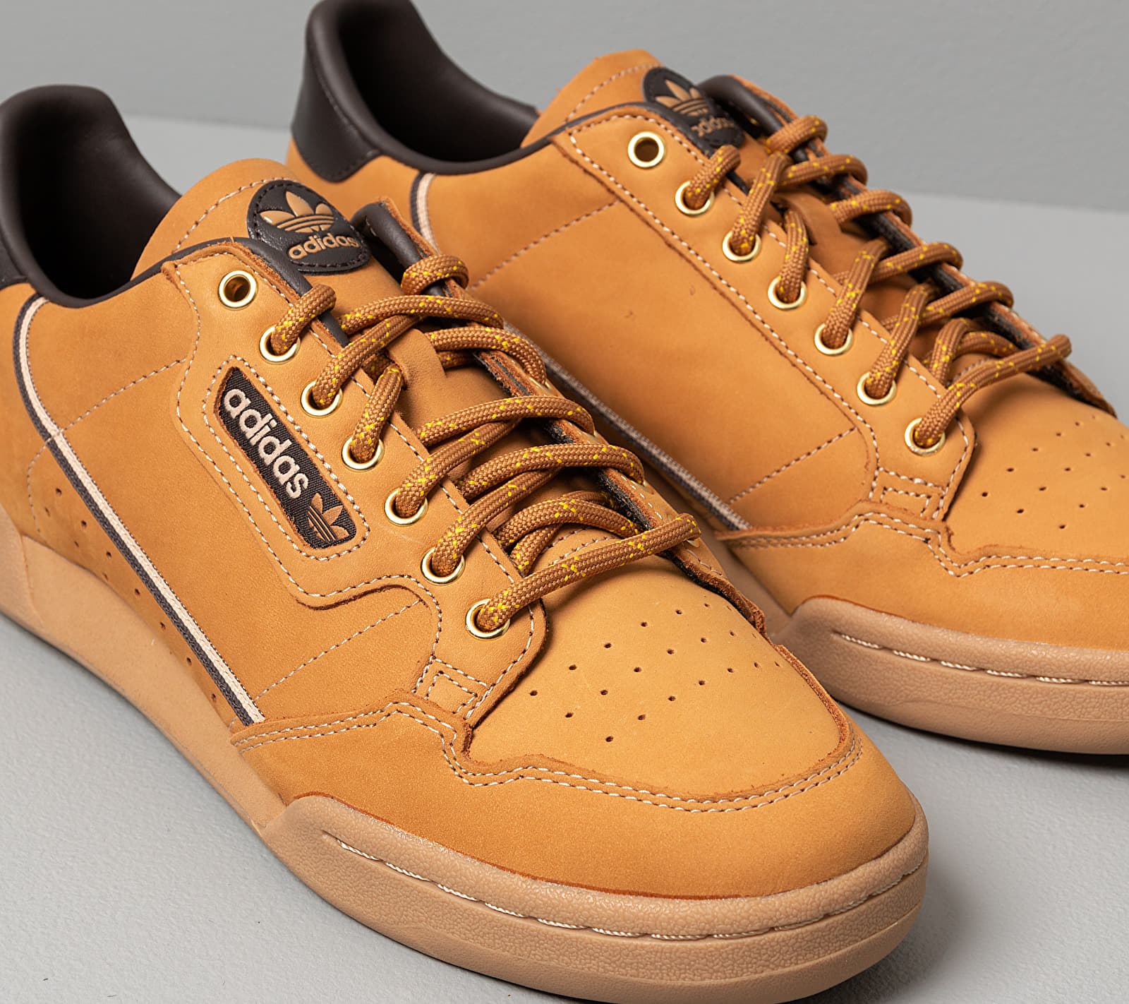 adidas Continental 80 Mesa/ Night Brown/ Eqt Yellow