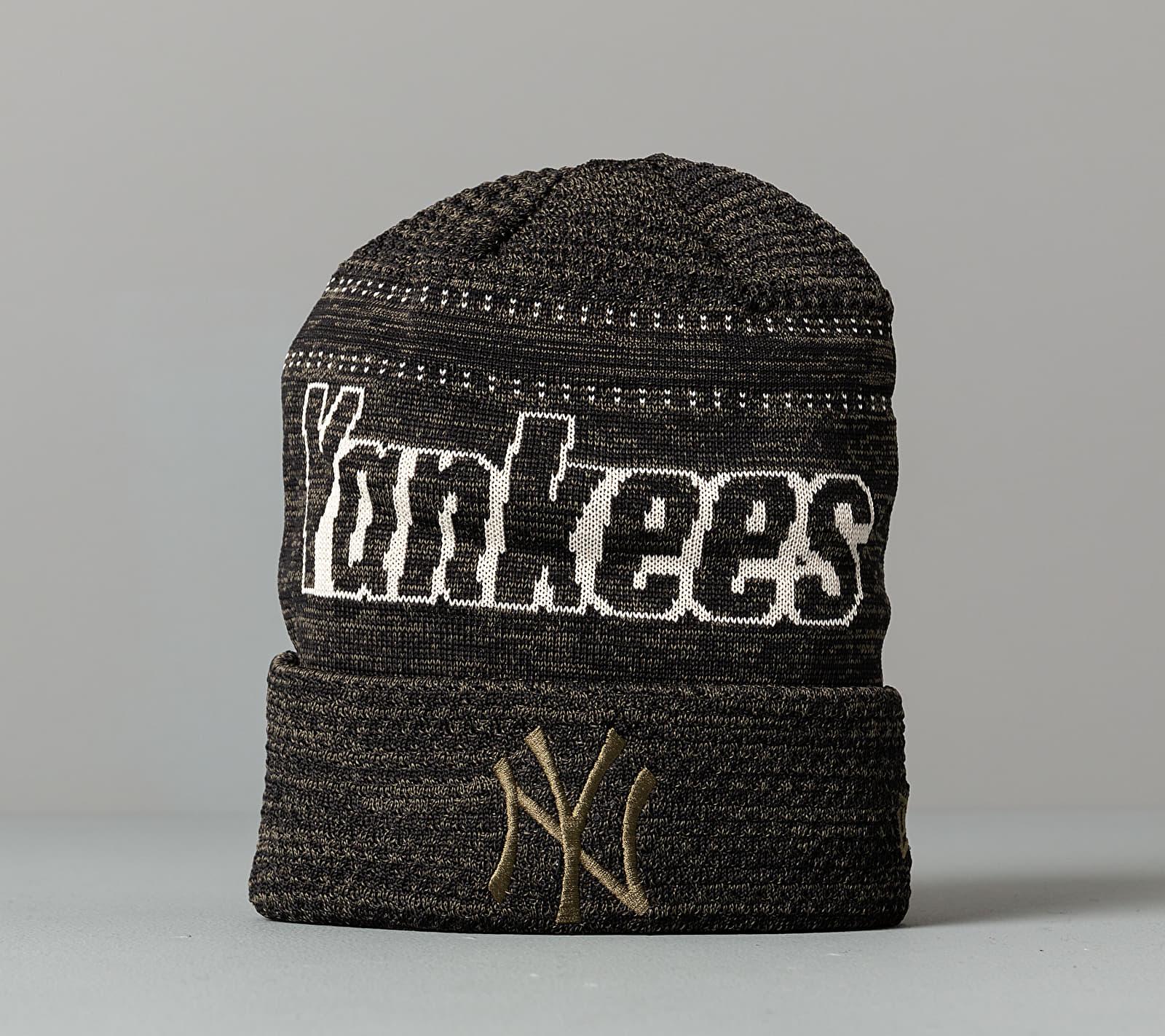 New Era MLB Engineered Fit Cuff New York Yankees Beanie Olive Univerzální velikost