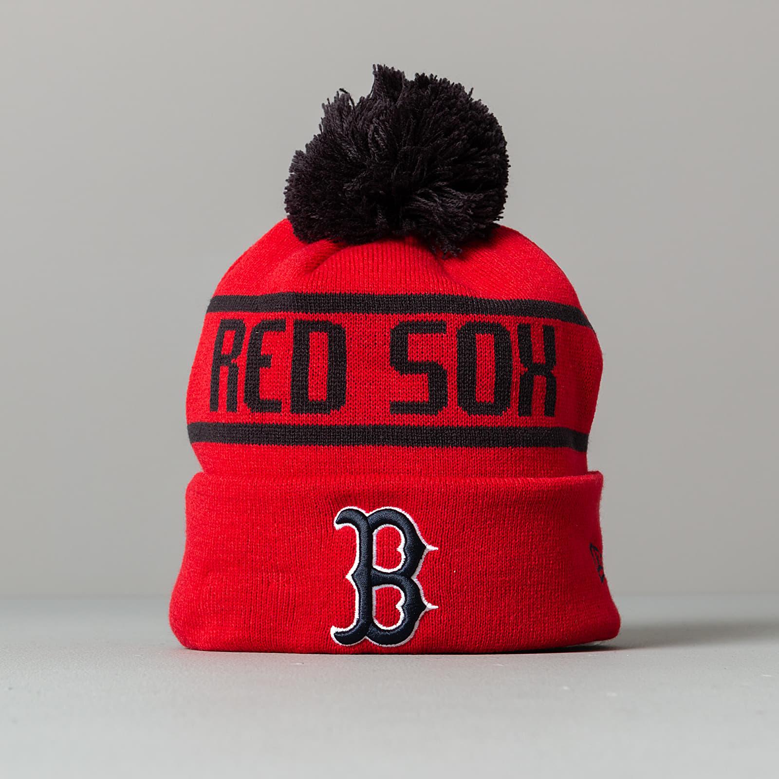 New Era MLB Bobble Knit Boston Red Sox Beanie