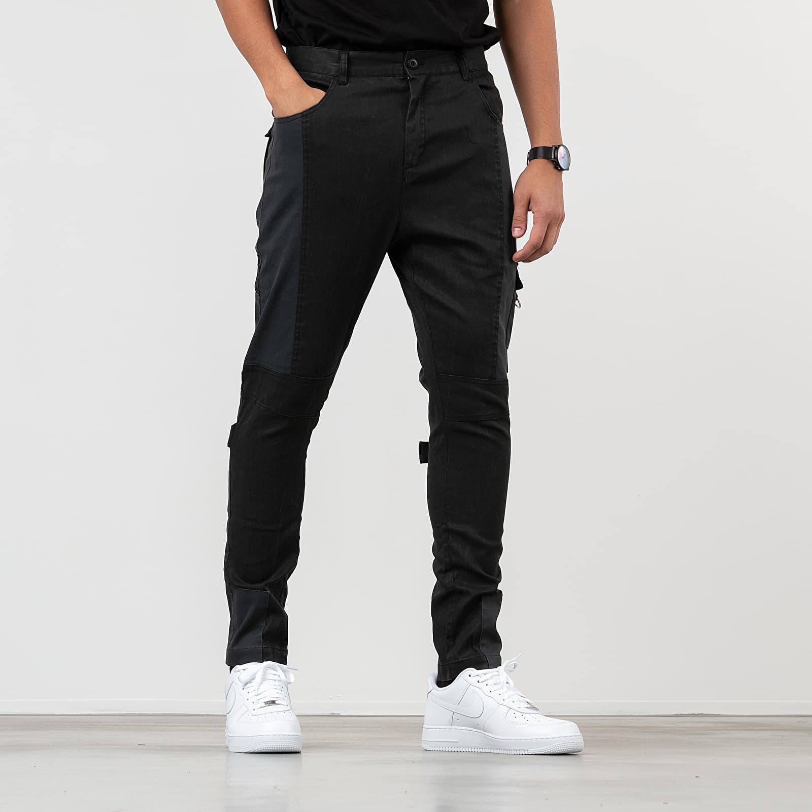 Pantaloni și blugi STAMPD Carpenter Pants Black