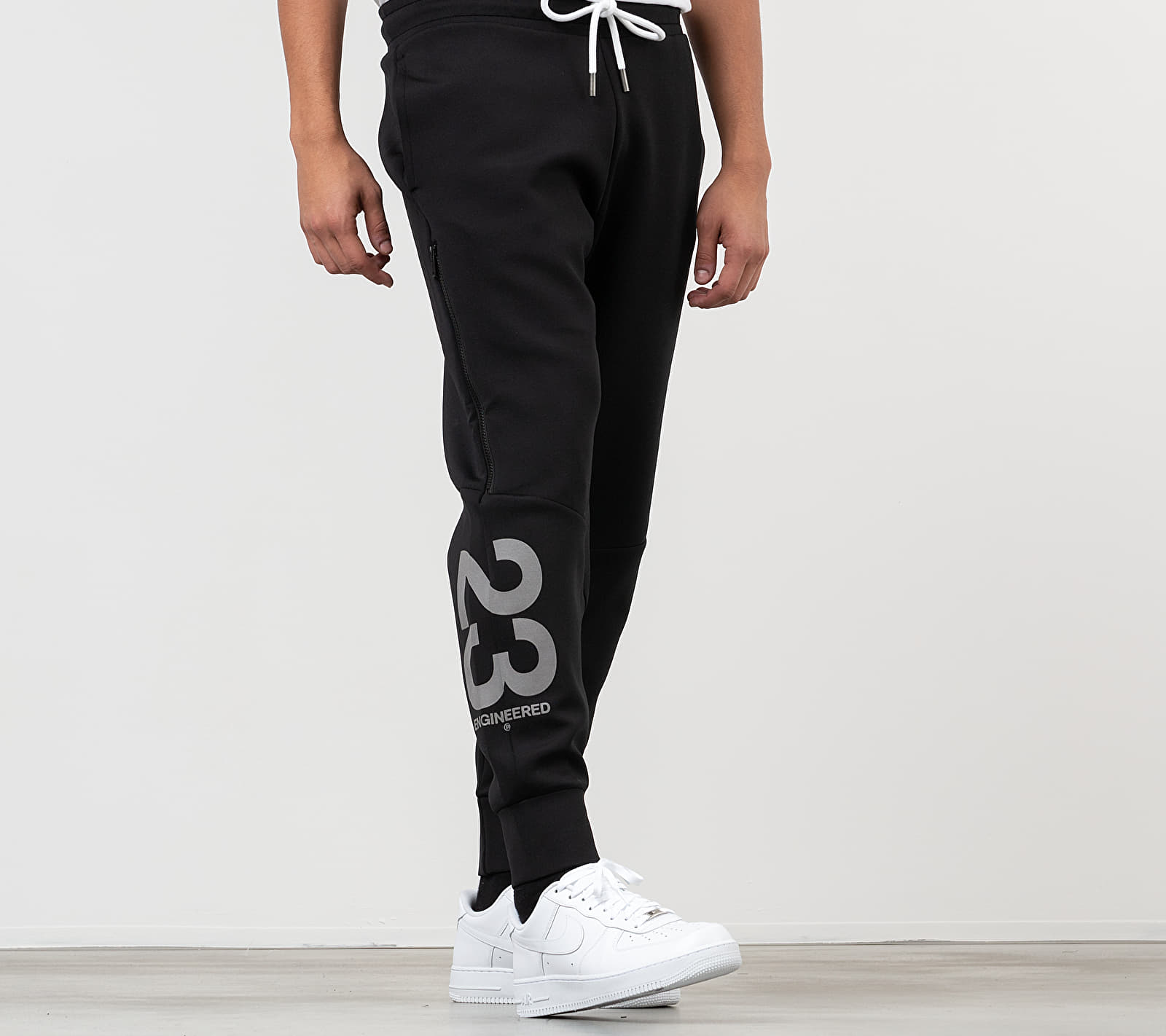 Jordan 23 Engineered Fleece Pants Black/ White