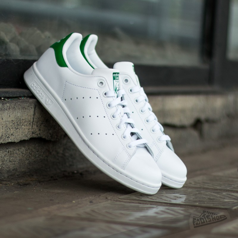 buy popular 346f9 f9d02 adidas Stan Smith J Ftw White/Ftw White/Green | Footshop
