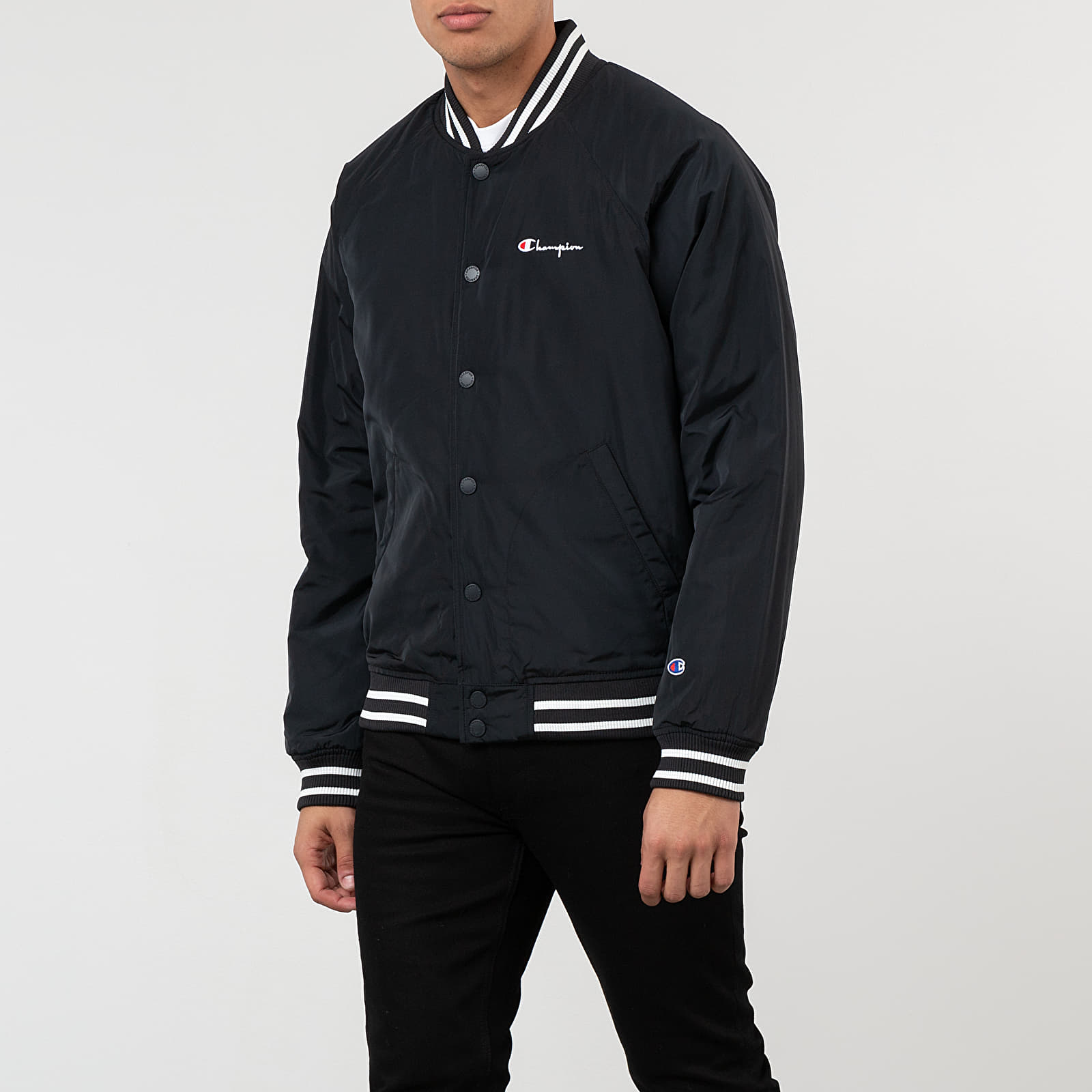 Bombery Champion Popper Track Jacket Black