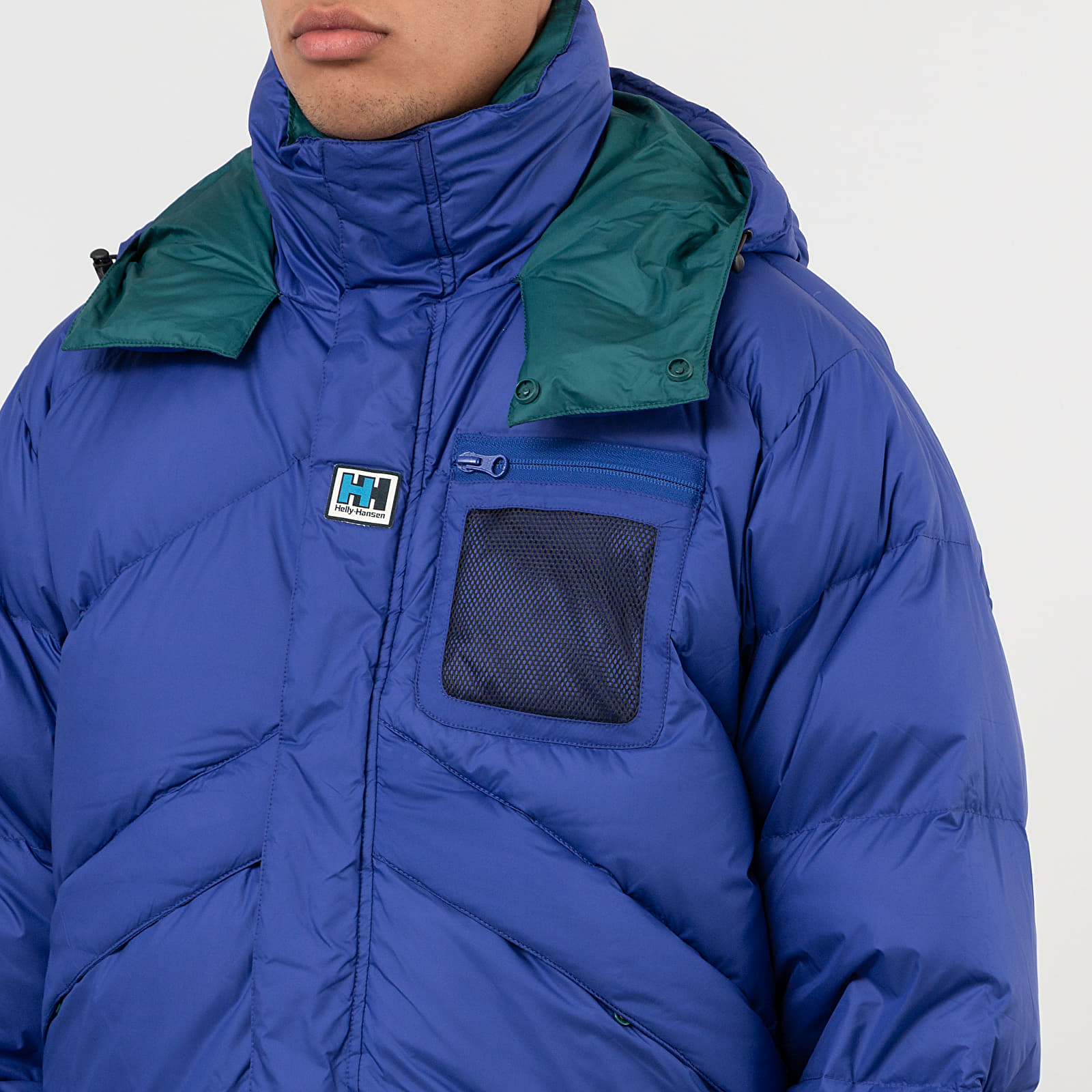 adidas Blue Reversible TT jacket blue white