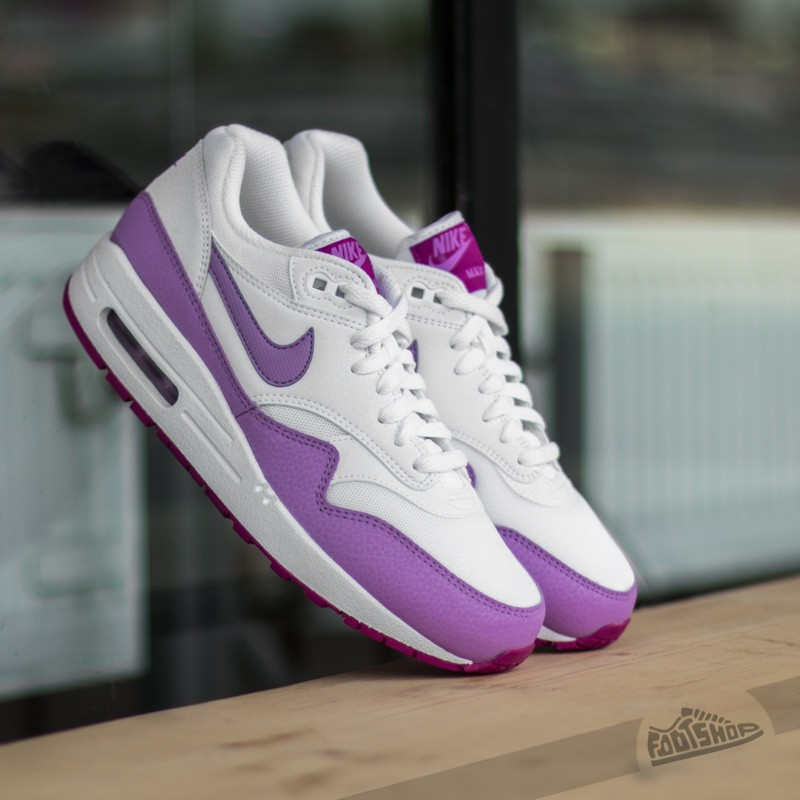 best sneakers 2495c 0ab2a Nike Wmns Air Max 1 Essential White Fuchsia Glow-Fuchsia Flash