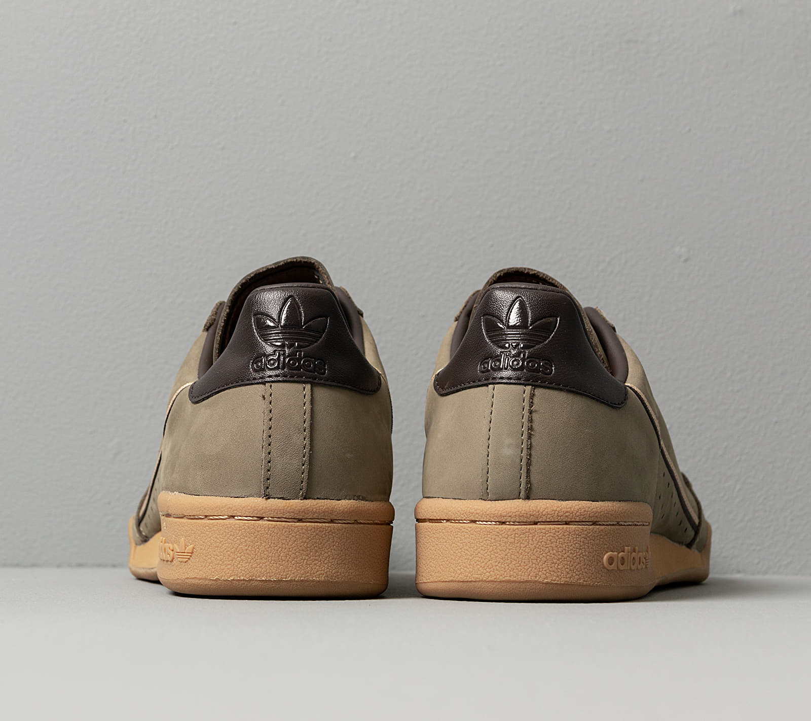 adidas Continental 80 Trace Cargo/ Mesa/ Night Brown, Green
