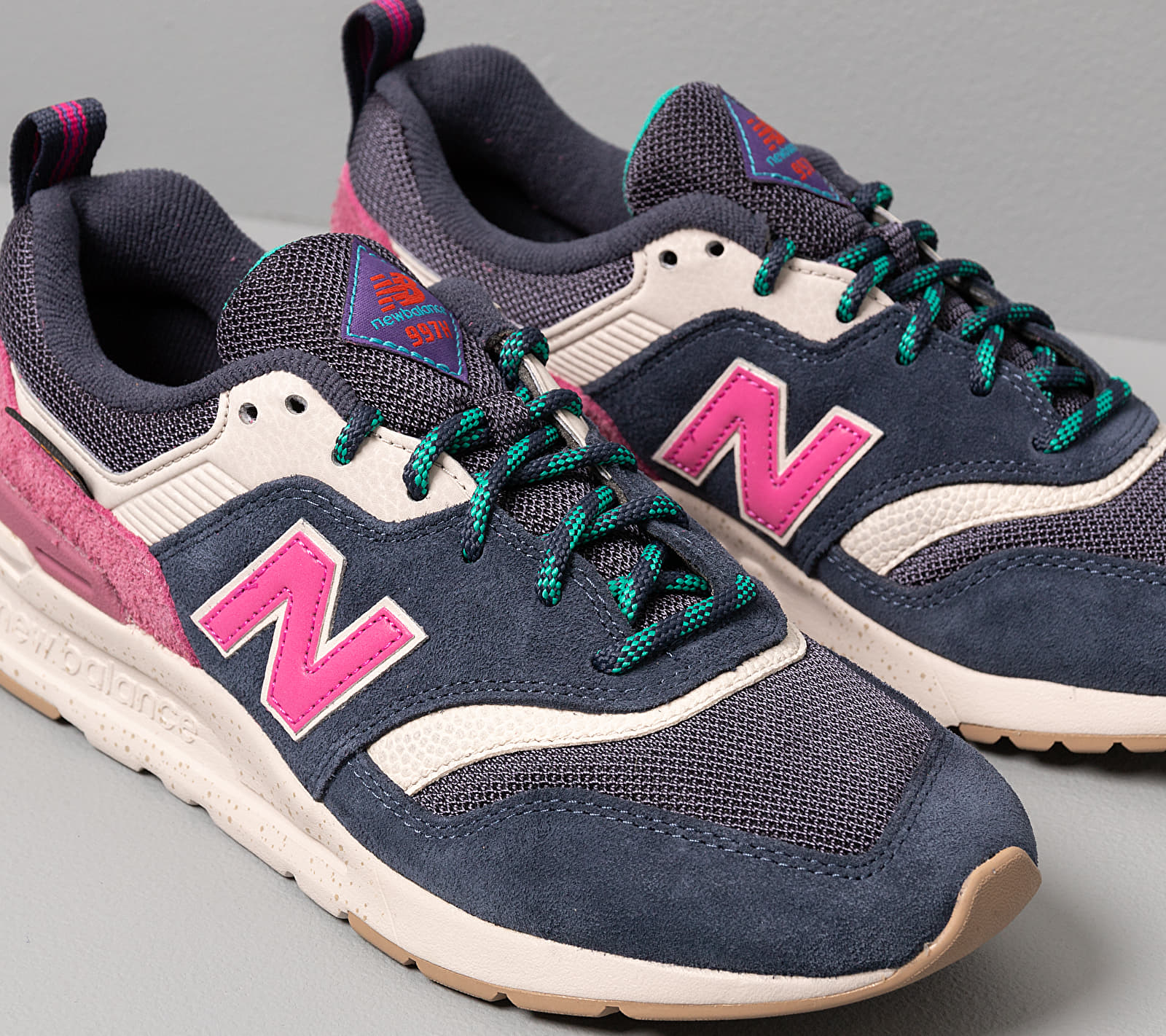New Balance 997 Navy/ Pink, Multicolour