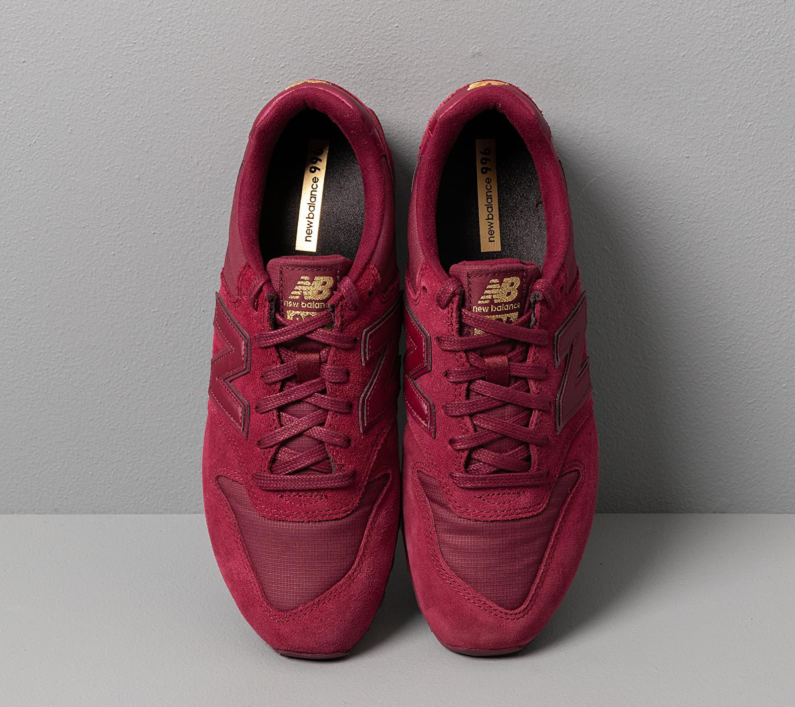 New Balance 996 Burgundy, Red