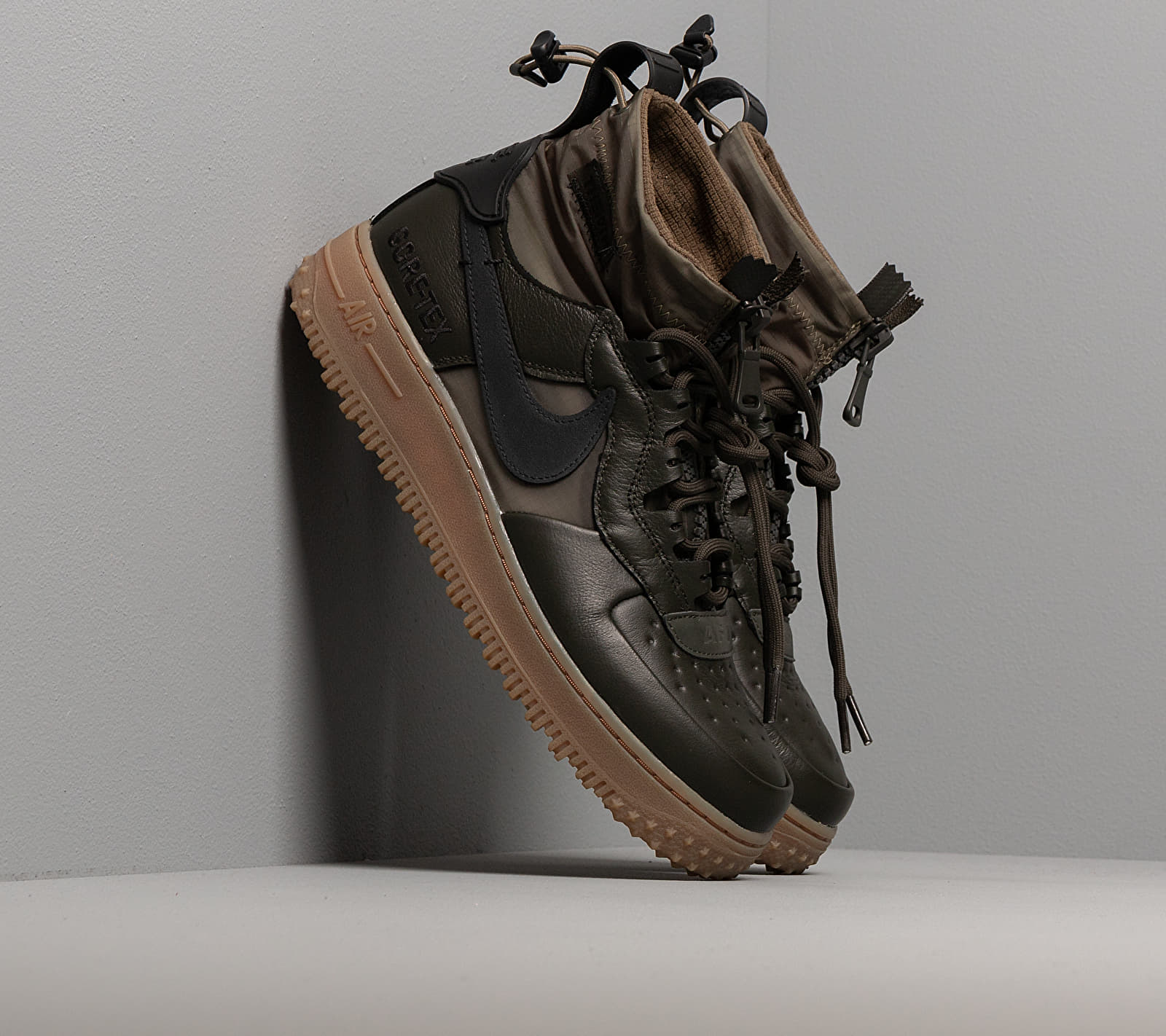 Nike Air Force 1 Wtr GTX Sequoia/ Black-Medium Olive-Gum Med Brown EUR 42