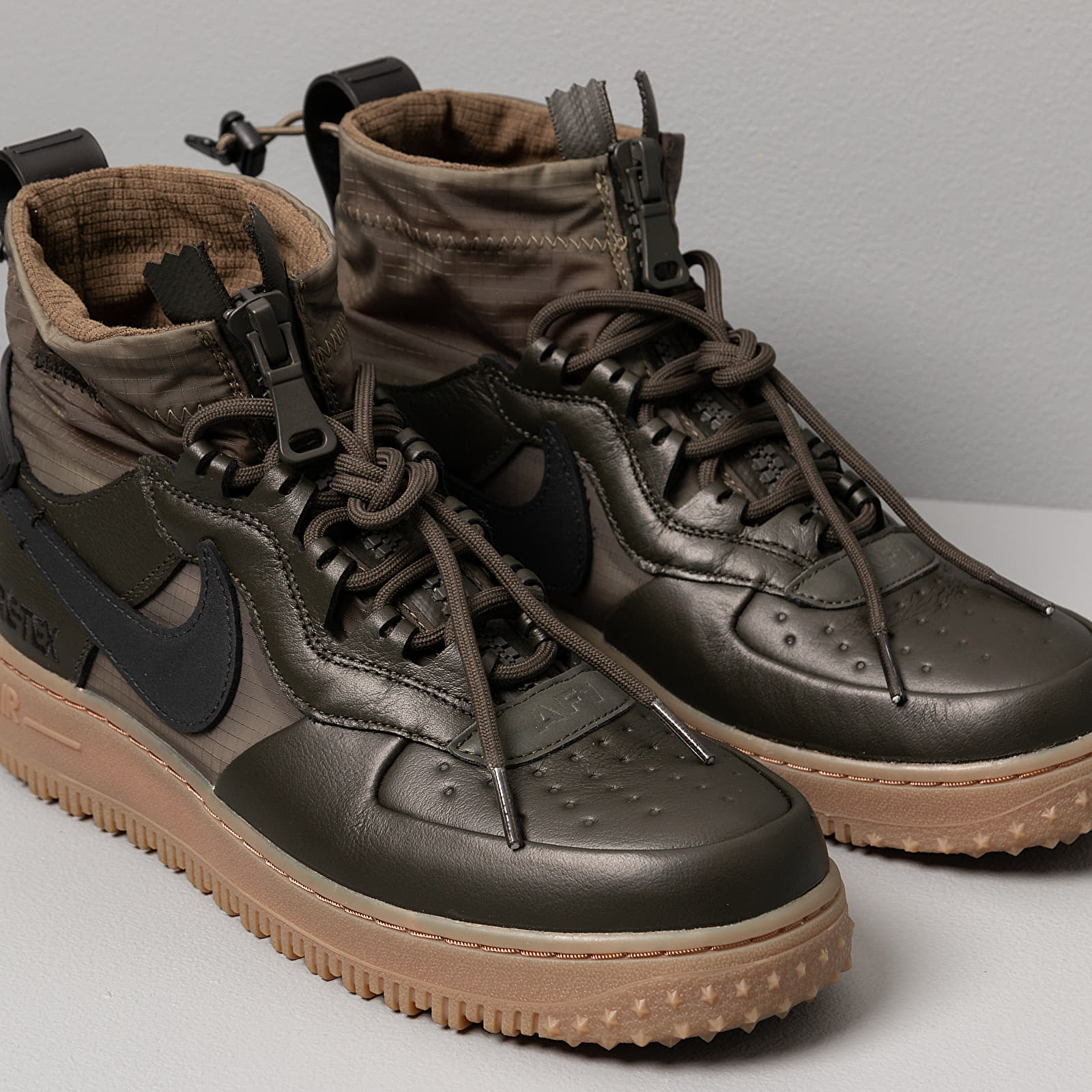 Nike Air Force 1 Winter Gore Tex Sequoia Black Medium Olive Gum Med Brown | Footshop