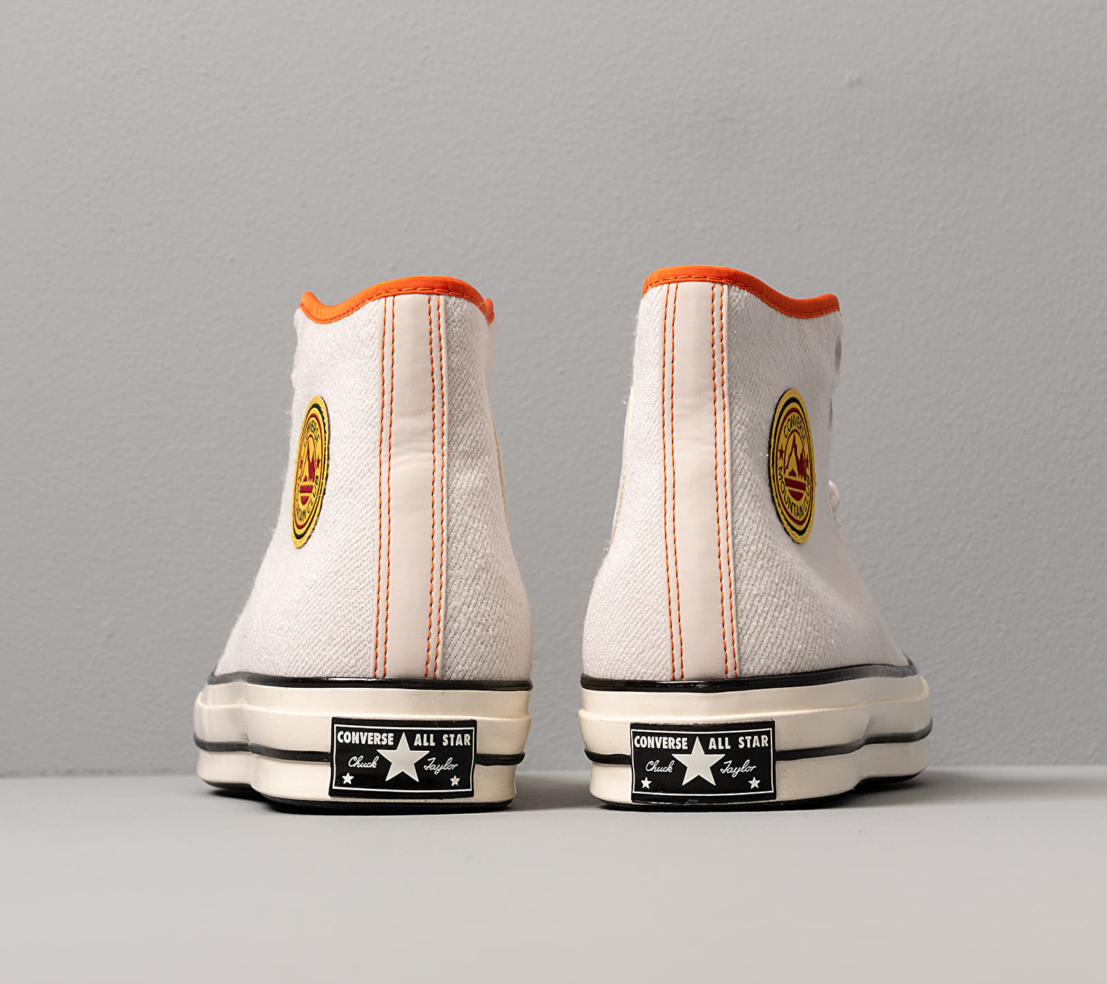 Converse Chuck 70 Archival Terry Pale Putty/ Campfire Orange, Gray