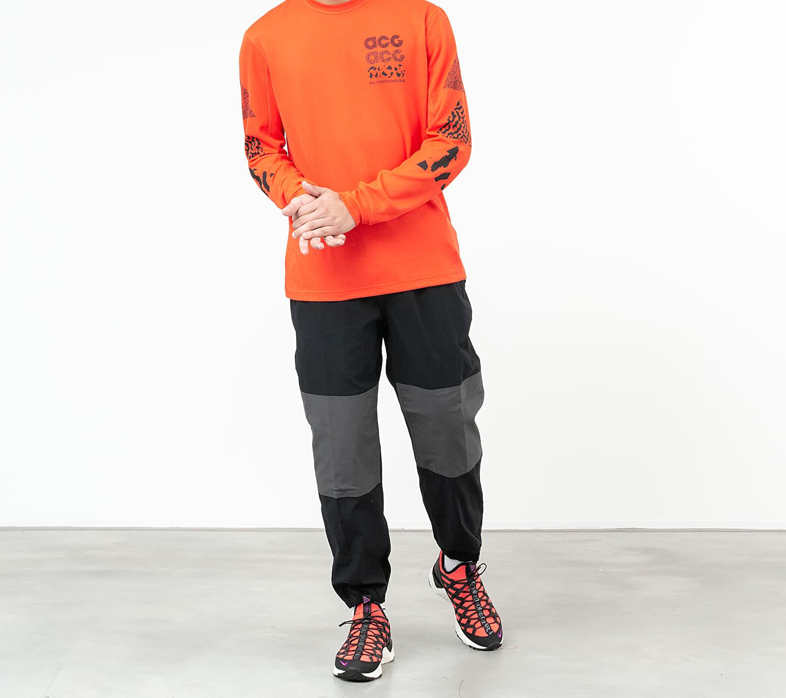 Nike ACG Knit Long Sleeve Tee Habanero Red