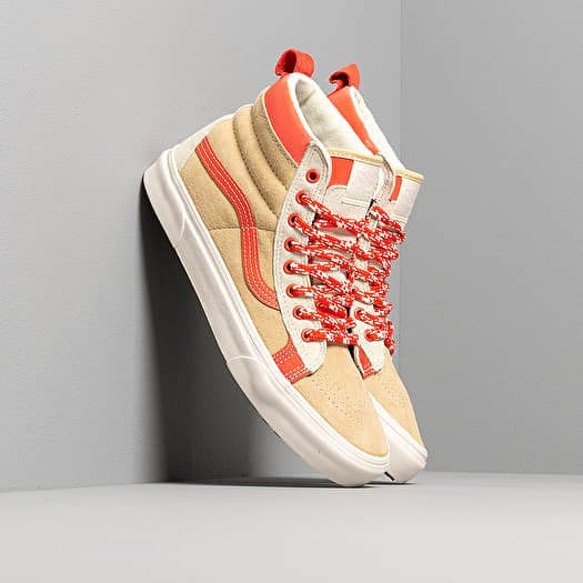 chaussures et baskets homme vans sk8 hi mte lx vssl mte kit beige orange vans sk8 hi mte lx vssl mte kit beige orange