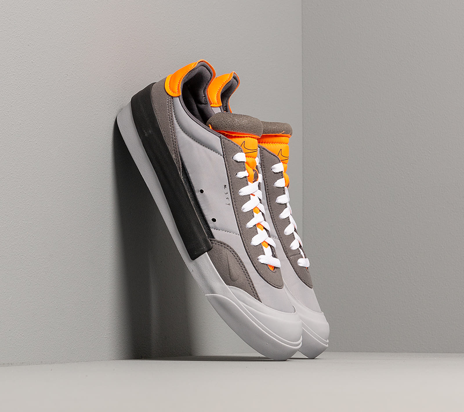 Nike Drop-Type Wolf Grey/ Black-Total Orange-Dark Grey, Gray