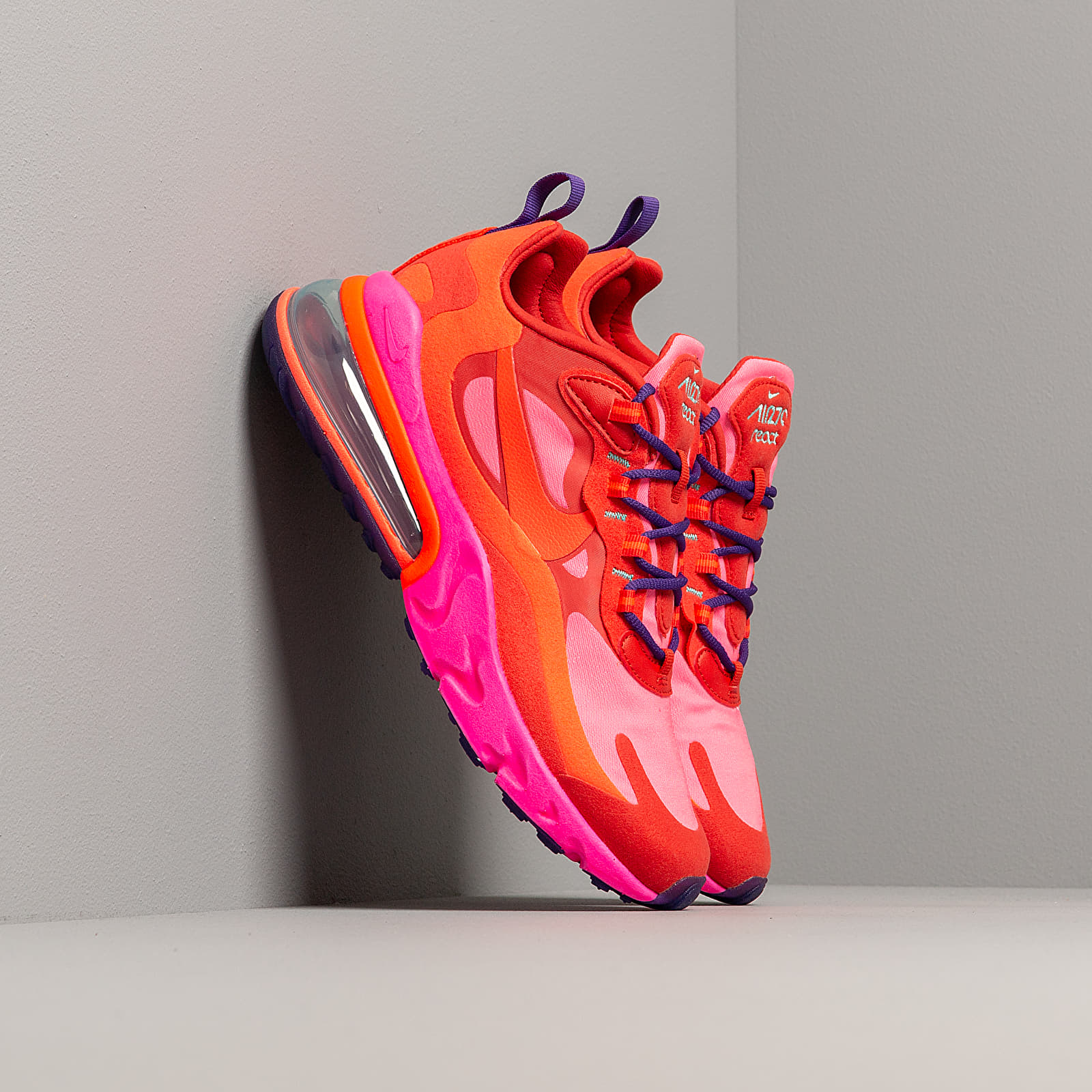 air max 270 react pink and red