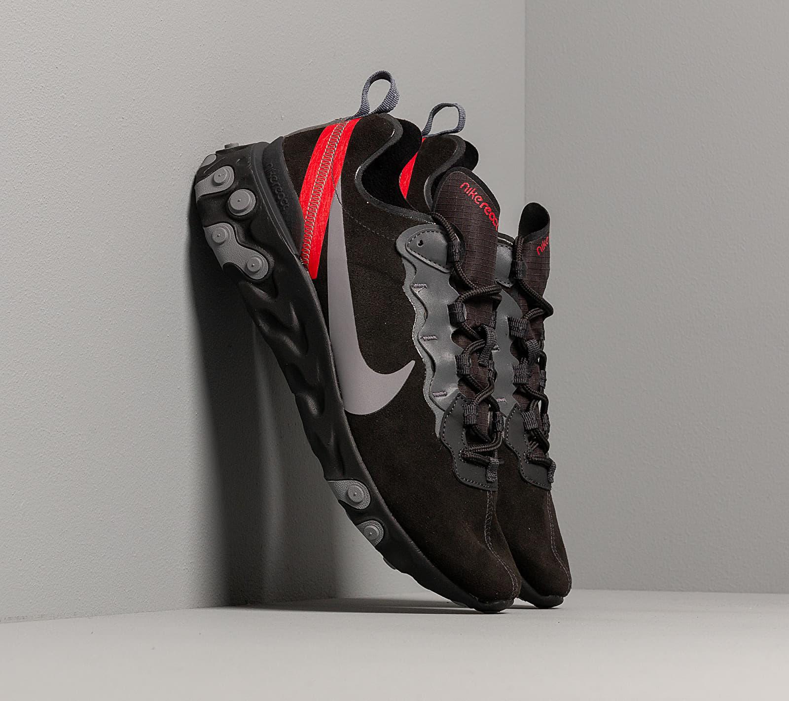 Nike React Element 55 Off Noir/ Gunsmoke-Black-University Red EUR 44.5