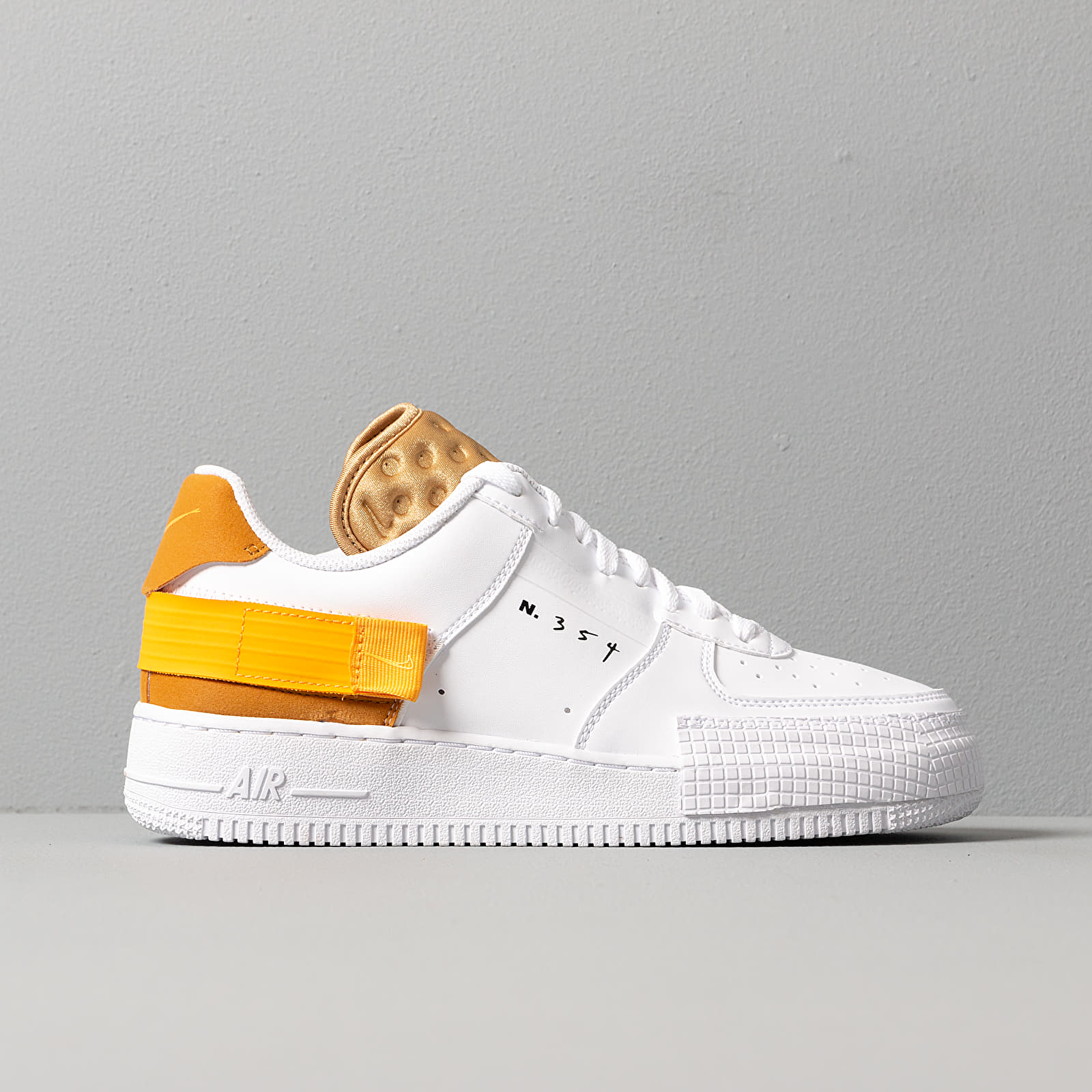 Nike Air Force 1 Type White University Gold Gold Suede | Footshop