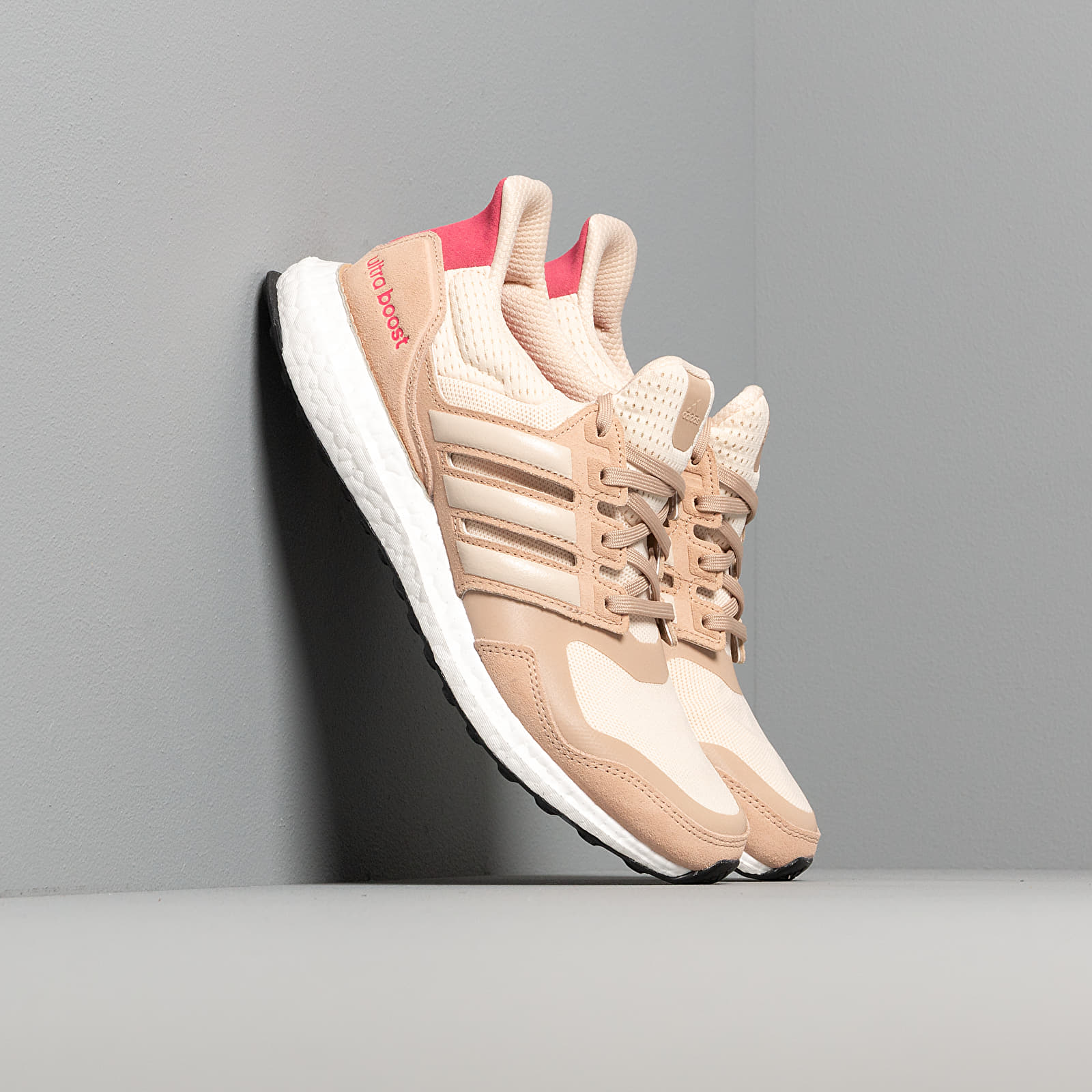 Women's shoes adidas UltraBOOST S&L W Ecru Tint/ St Pale Nude/ Real Pink