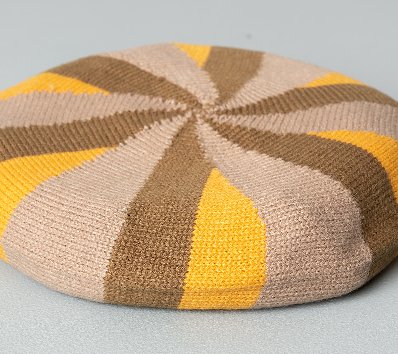 Stüssy Belmont Stripe Beret Tan, Brown