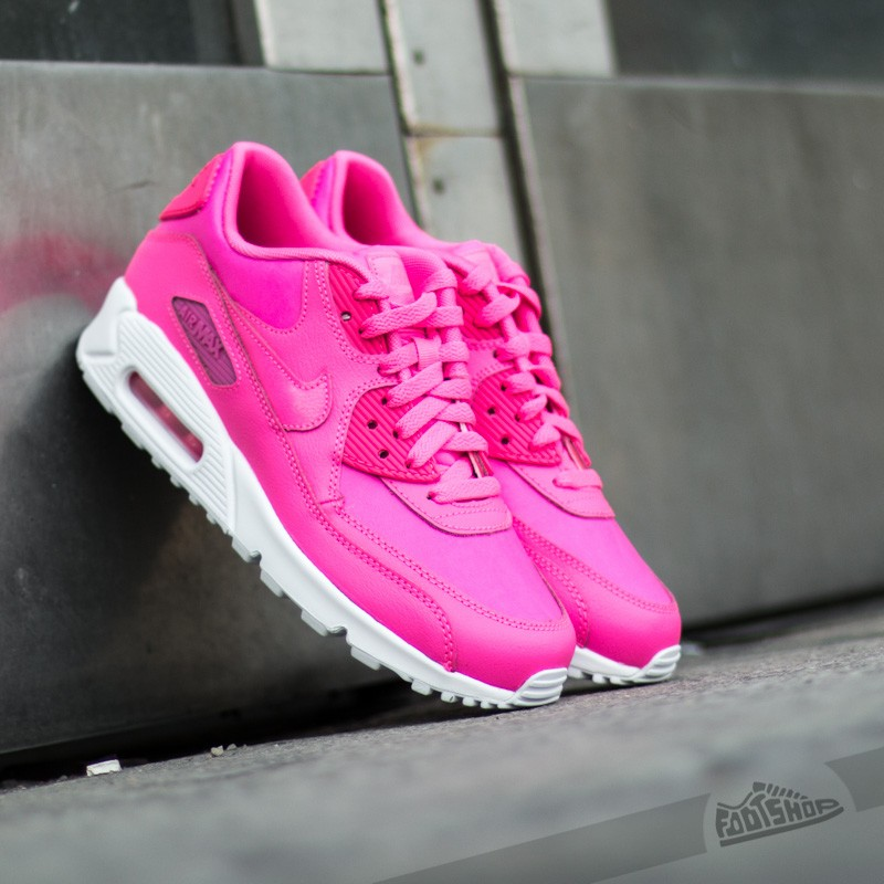 efca03d1c49 Nike Air Max 90 Leather (GS) Pink Powder  White
