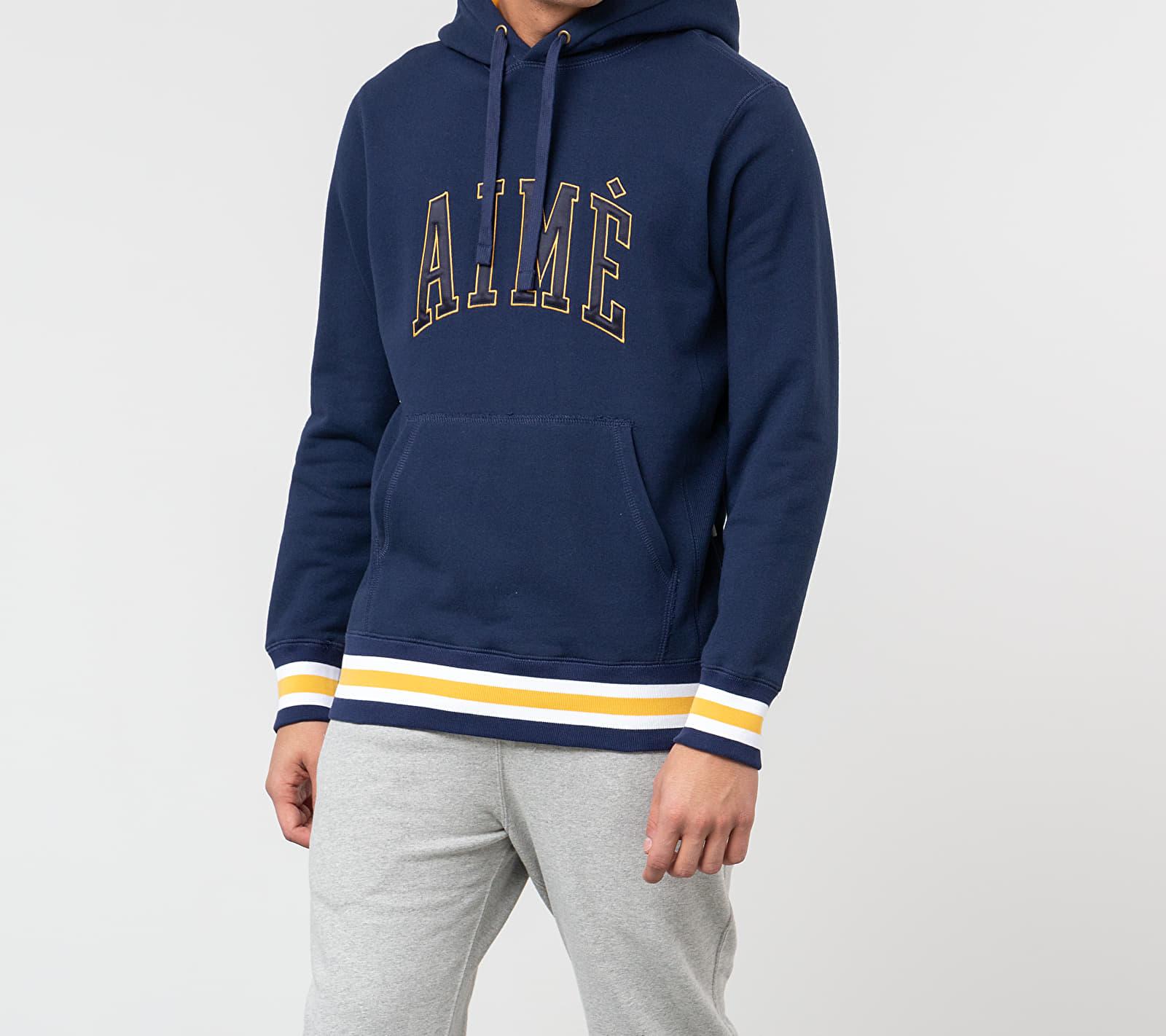 Aimé Leon Dore Terry Collegiate Hoodie Flag Navy, Blue