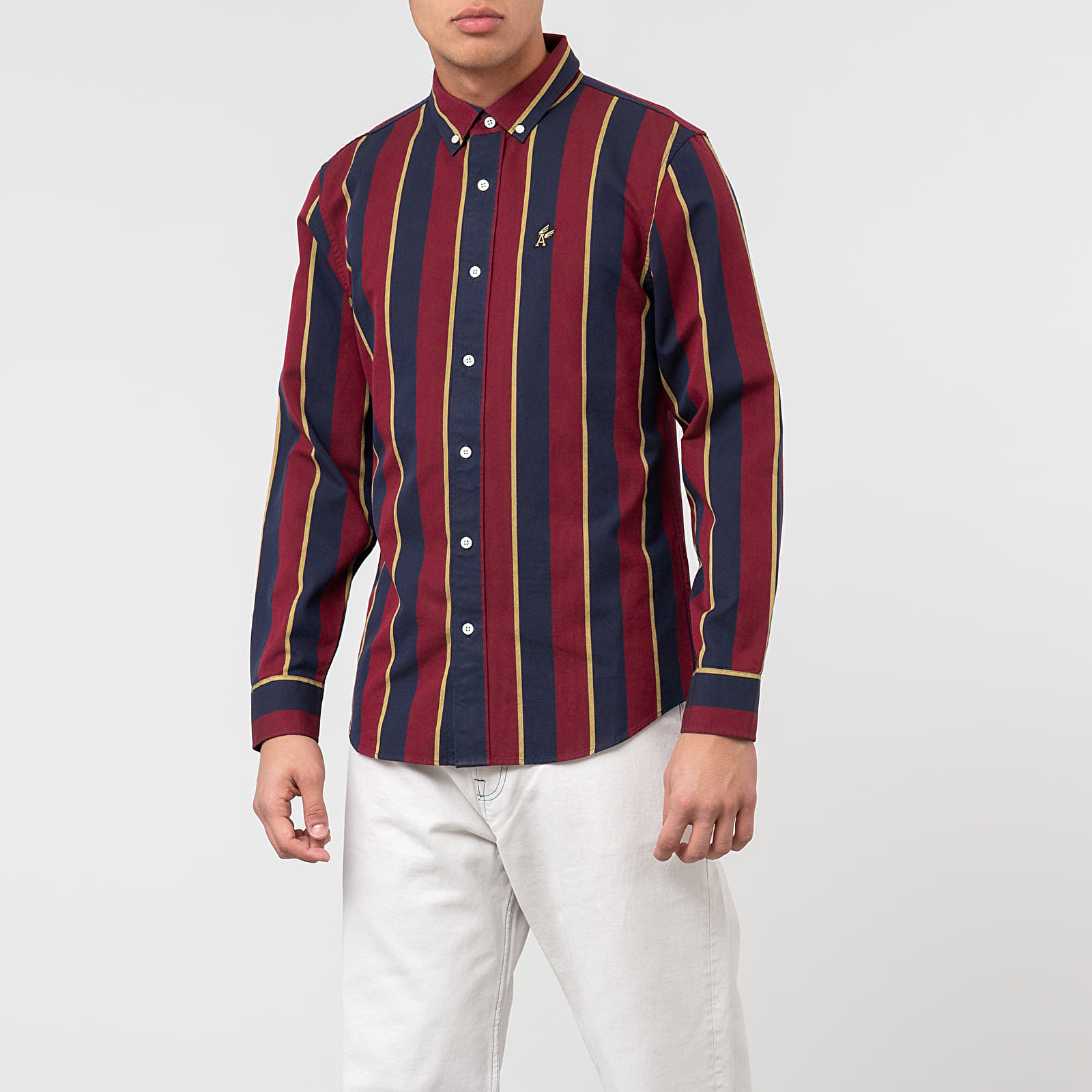 Hemden Aimé Leon Dore Striped A-Wing Oxford Shirt Red Wine