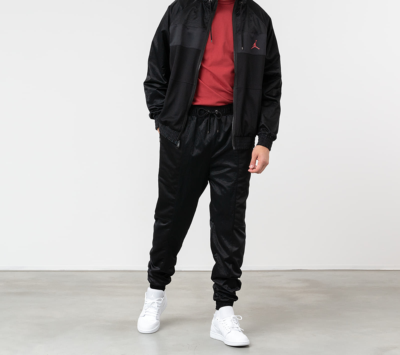 Jordan Wings Suit Jacket Black/ Black/ Black/ Gym Red
