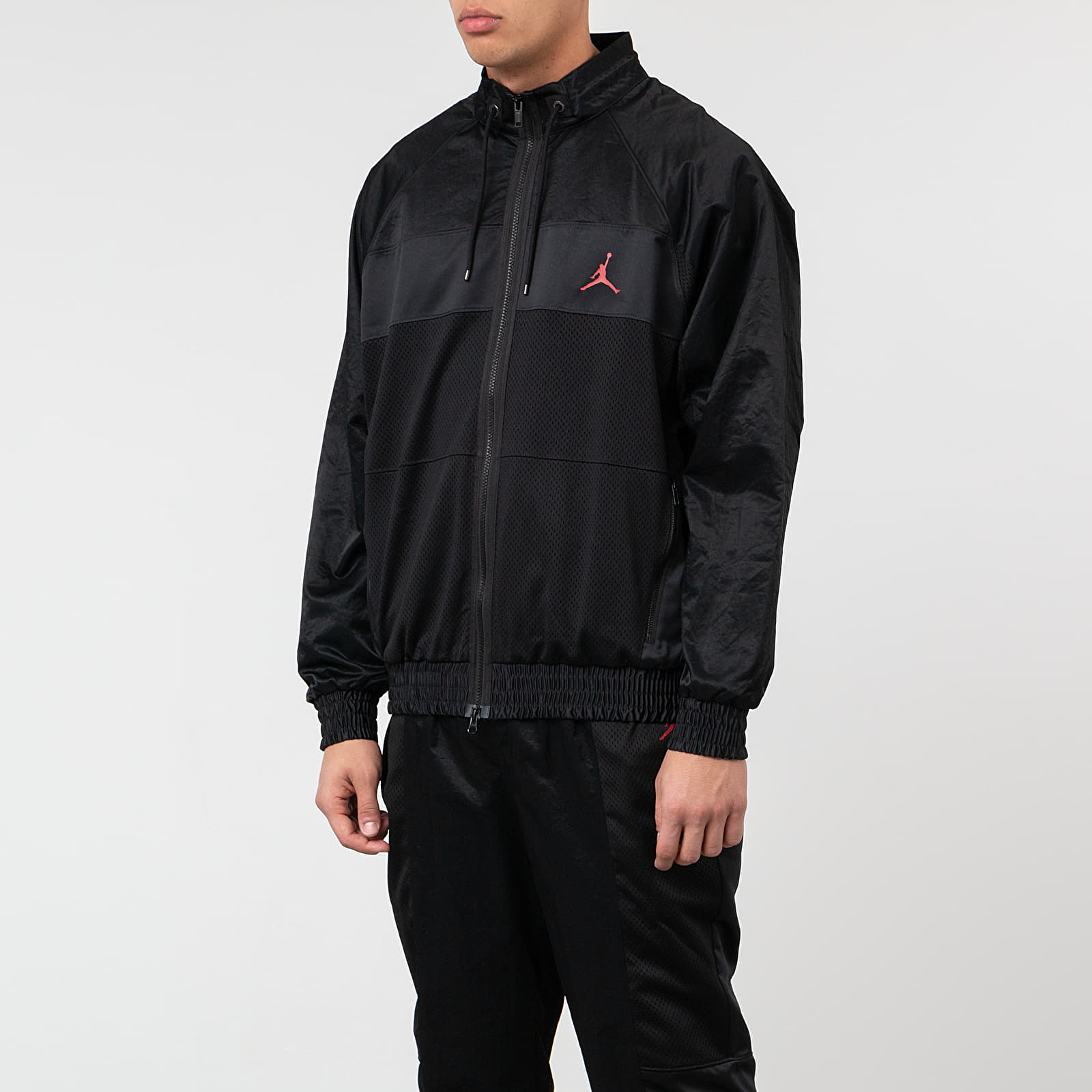 Větrovky Jordan Wings Suit Jacket Black/ Black/ Black/ Gym Red