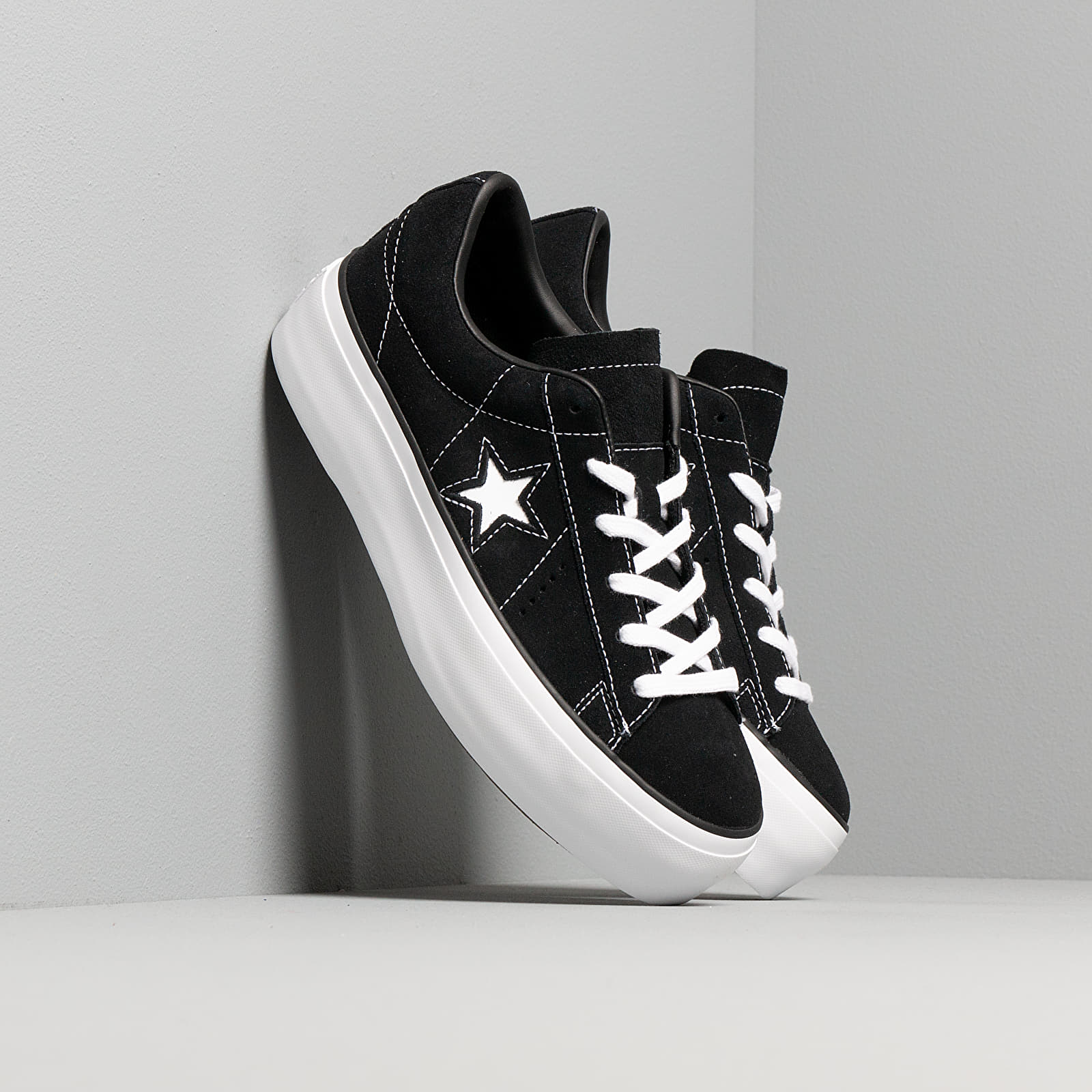Frauen Converse One Star Platform Black/ Black/ White
