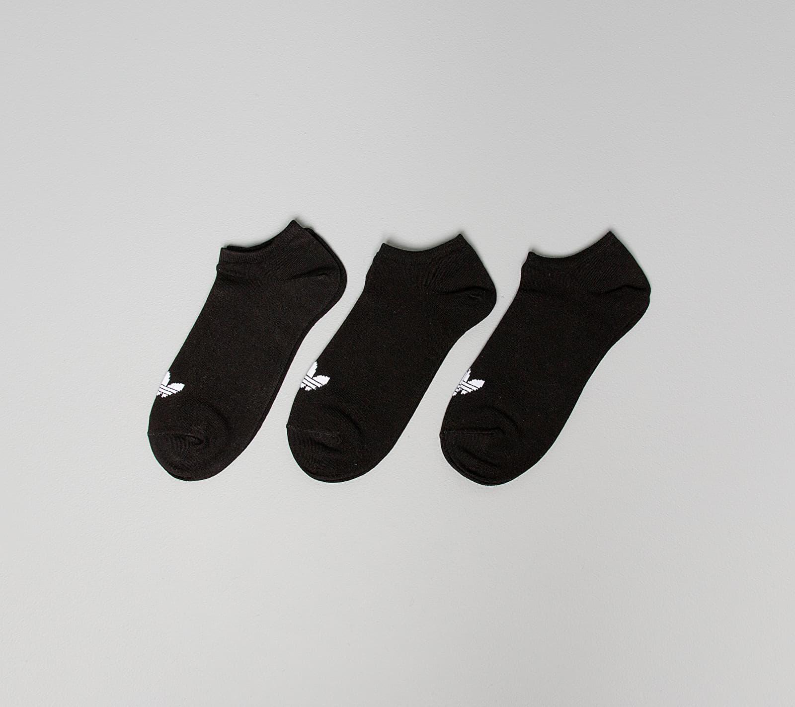 adidas Trefoil Liner Socks 3 Pairs Black EUR 43-46