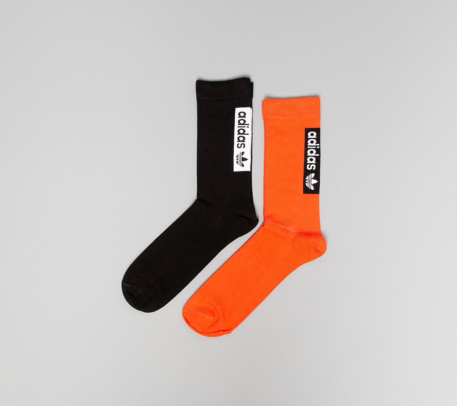 adidas Thin Crew Socks Active Orange/ Black