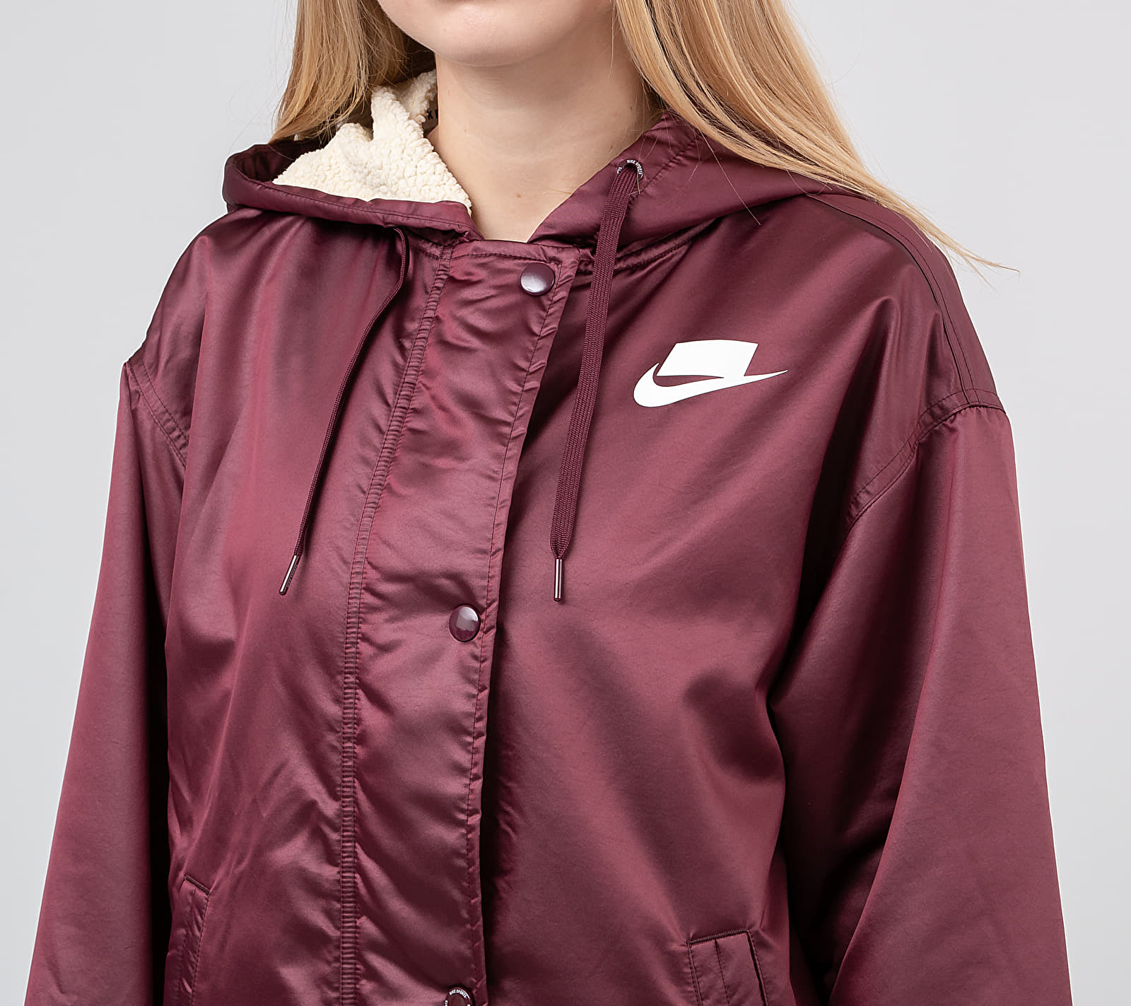 Nike Sportswear NSP Syn Fill Parka Night Maroon/ Muslin/ White, Red
