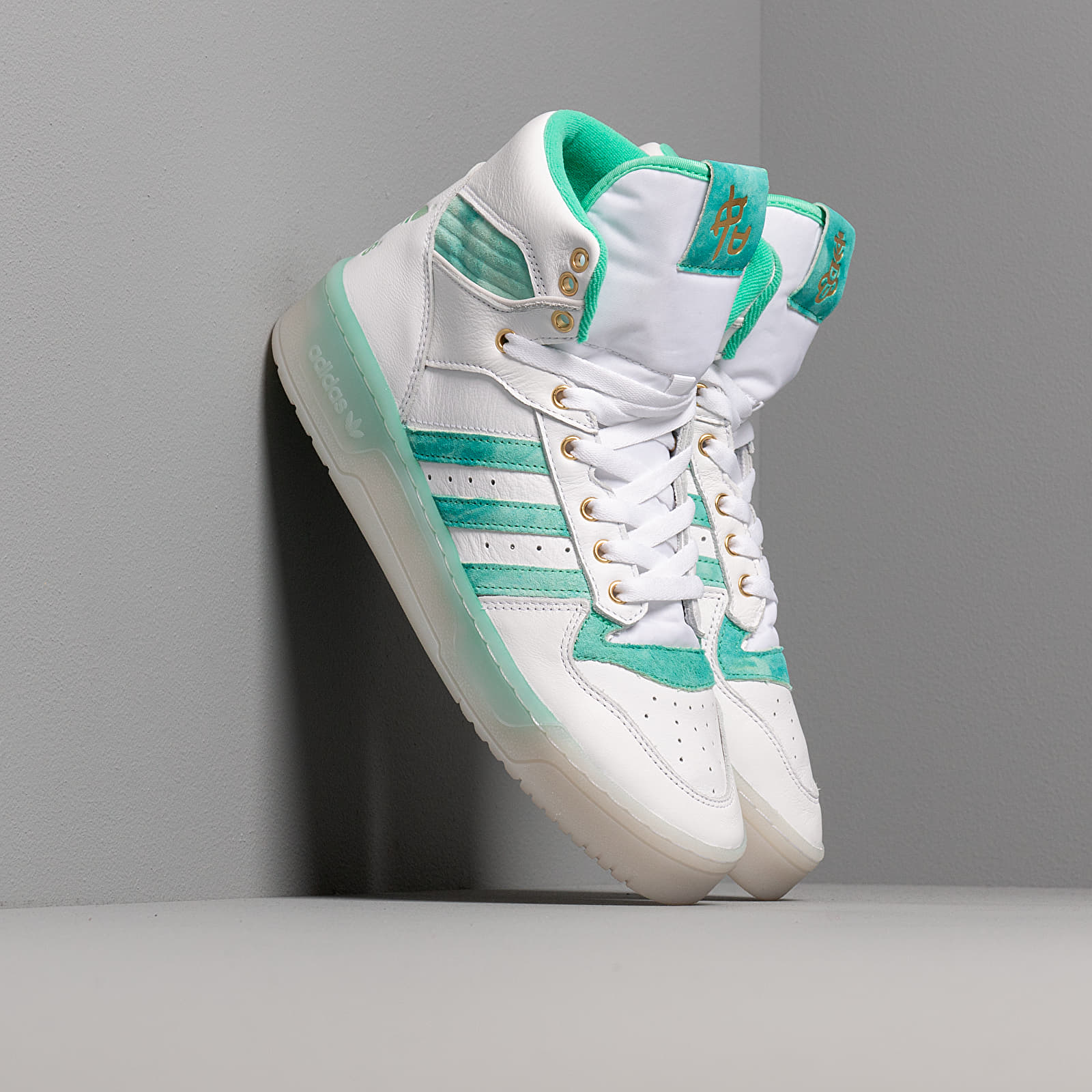Pánske tenisky a topánky adidas Rivalry Ftwr White/ Hi-Res Green S18/ Gold Foil