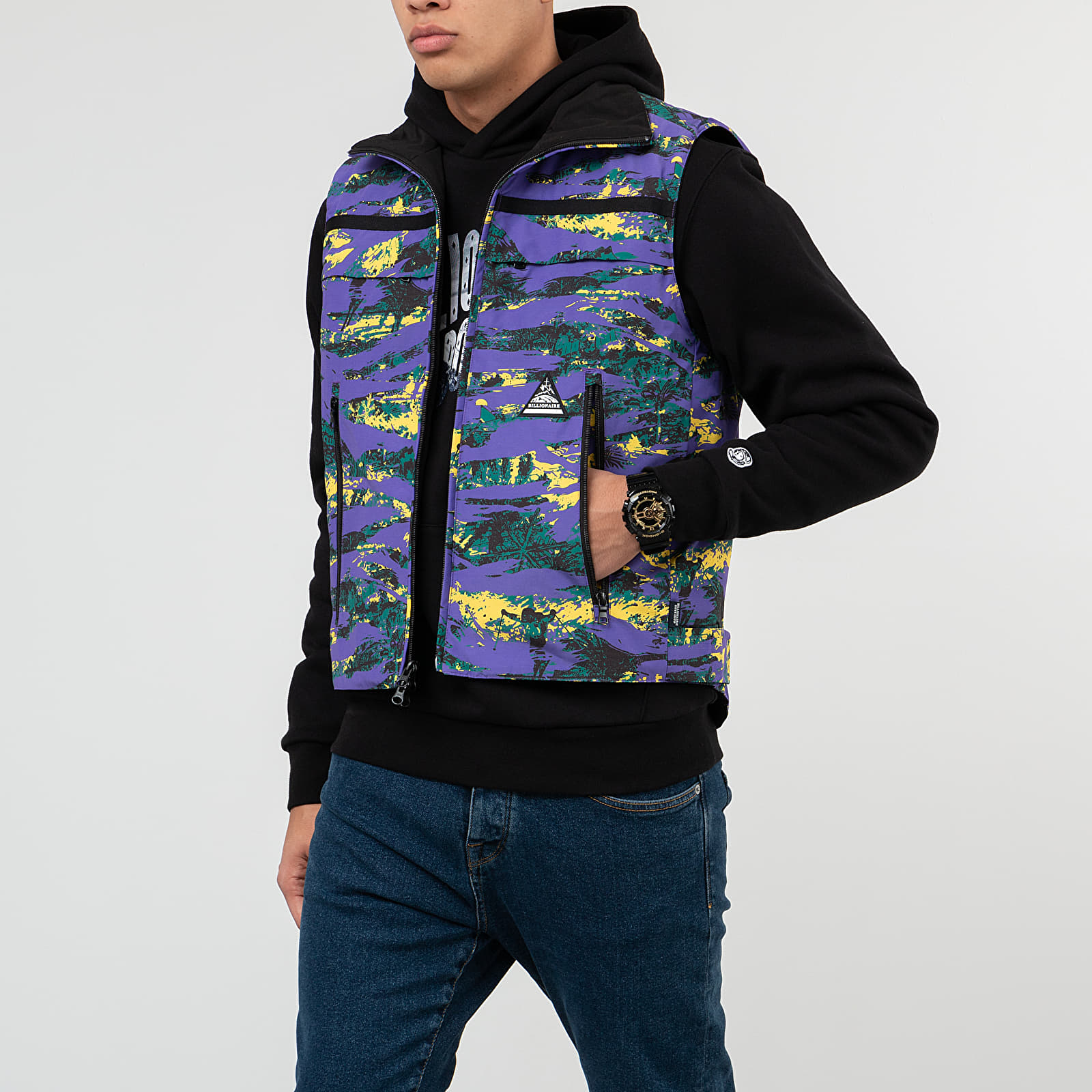 Geci Billionaire Boys Club Reversible Ski Vest Purple Camo/ Black