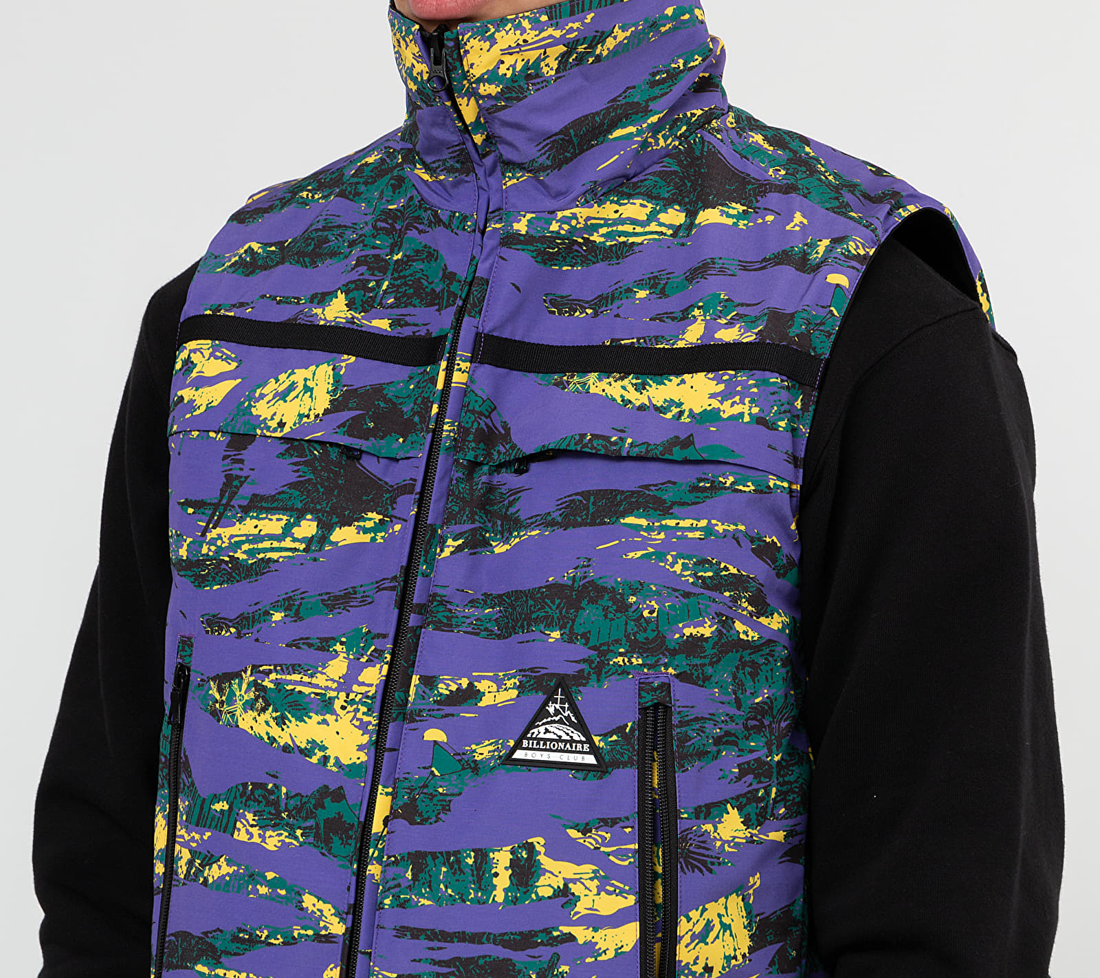 Billionaire Boys Club Reversible Ski Vest Purple Camo/ Black, Multicolour